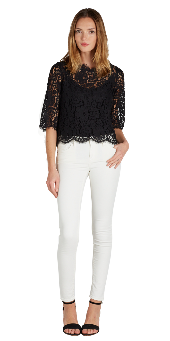Joie Elvia Scalloped Lace Blouse 43