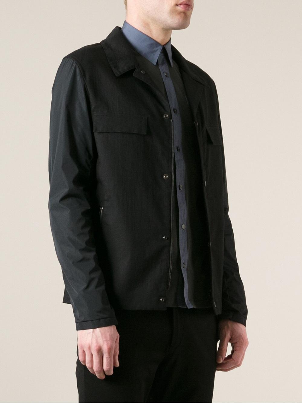 Lyst Lanvin Button Down Jacket In Black For Men