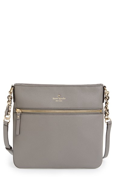 db26d5bcc332 Lyst - Kate Spade  cobble Hill - Ellen  Leather Crossbody Bag in Gray