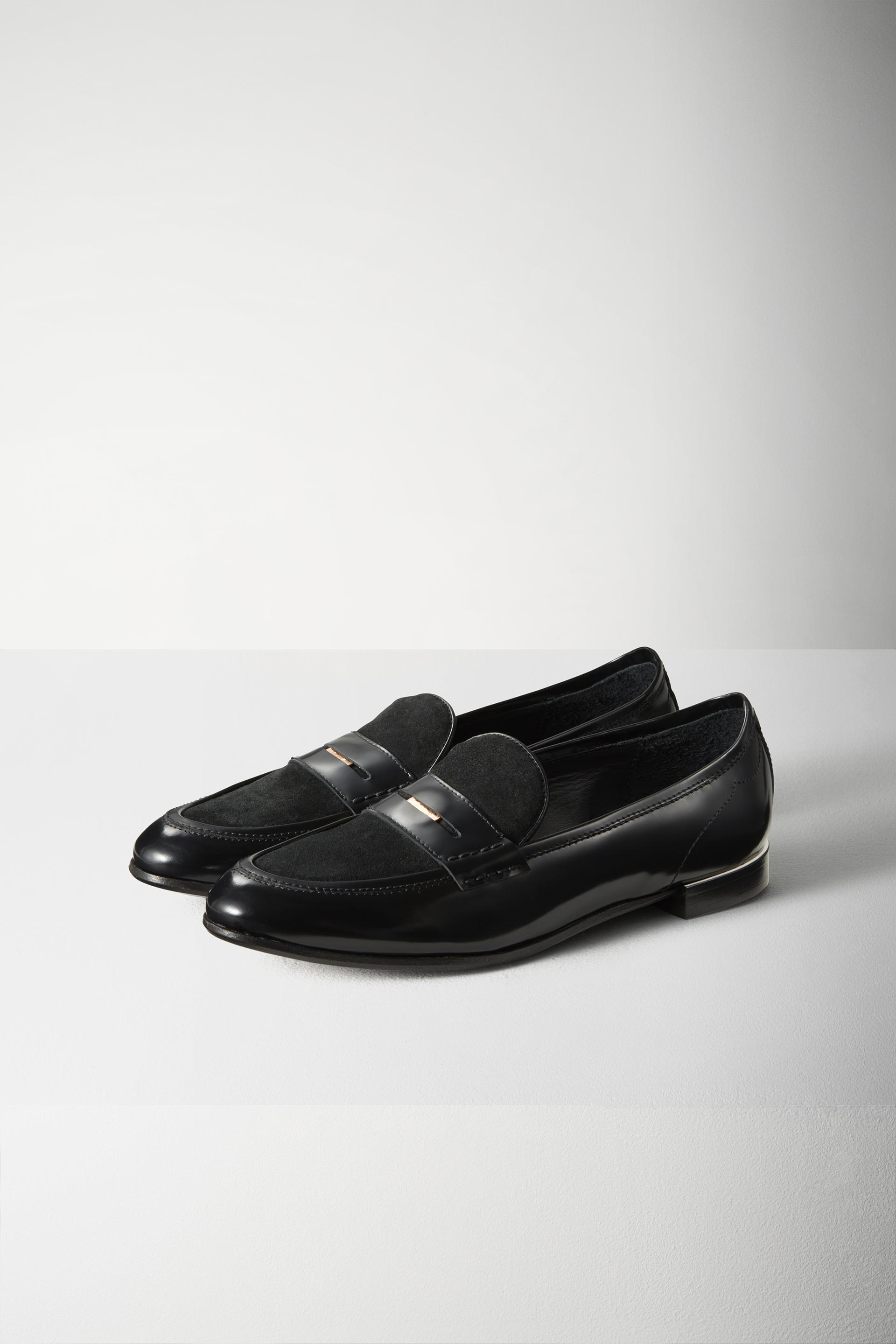 Lyst Rag Amp Bone Dina Leather Loafers In Black
