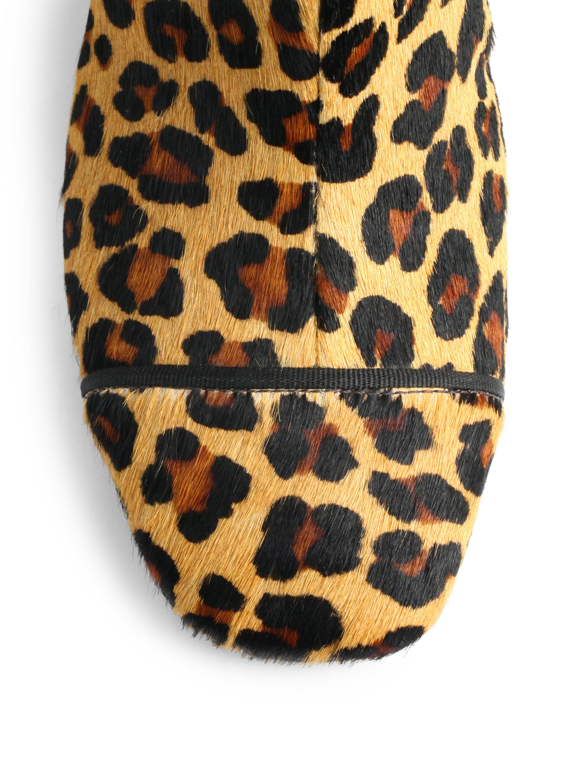 b742f616a20 Lyst - Tory Burch Regina Leopard Print Calf Hair Ankle Boots