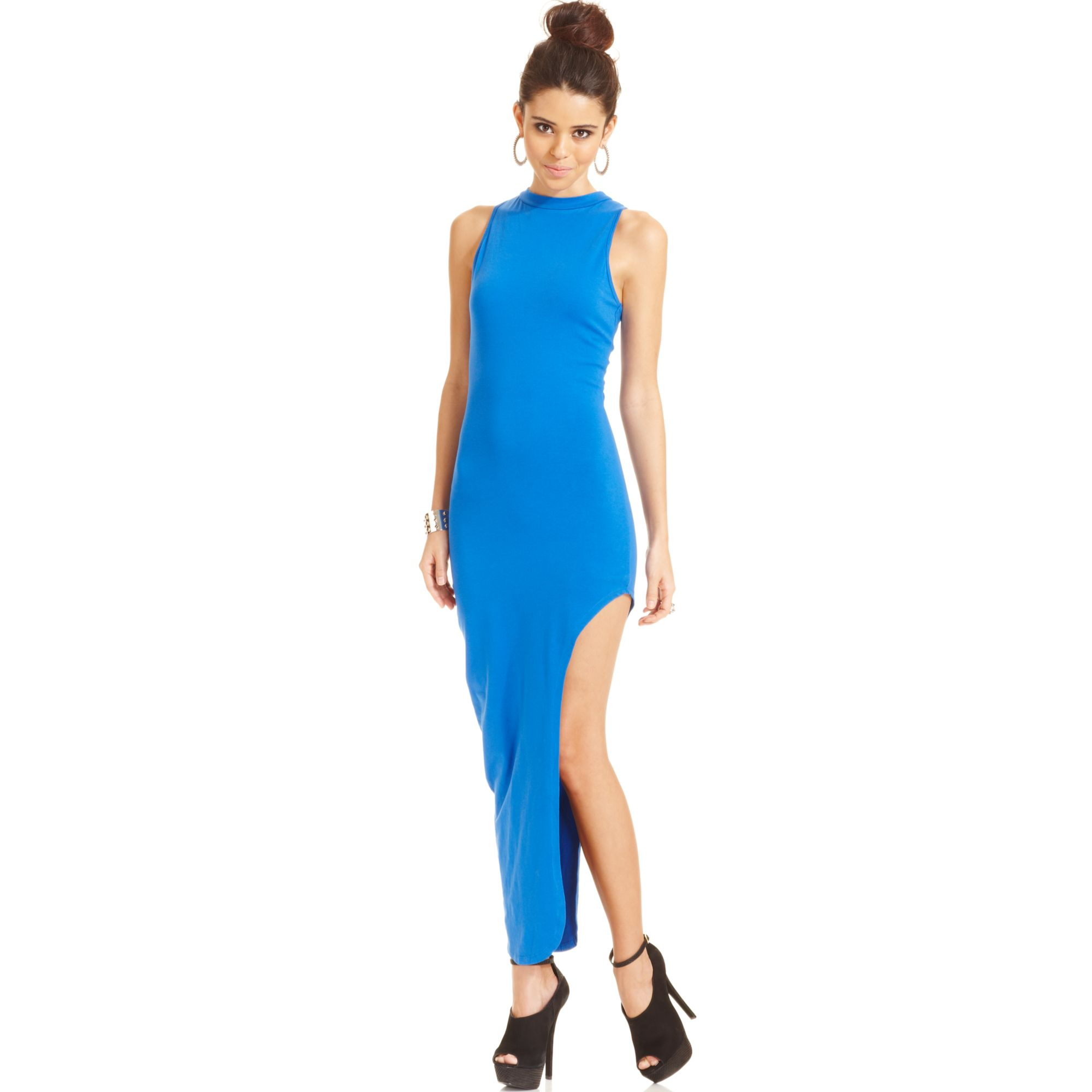 c0371fc1a598a Lyst - Material Girl Juniors Asymmetricalhem Maxi Dress in Blue