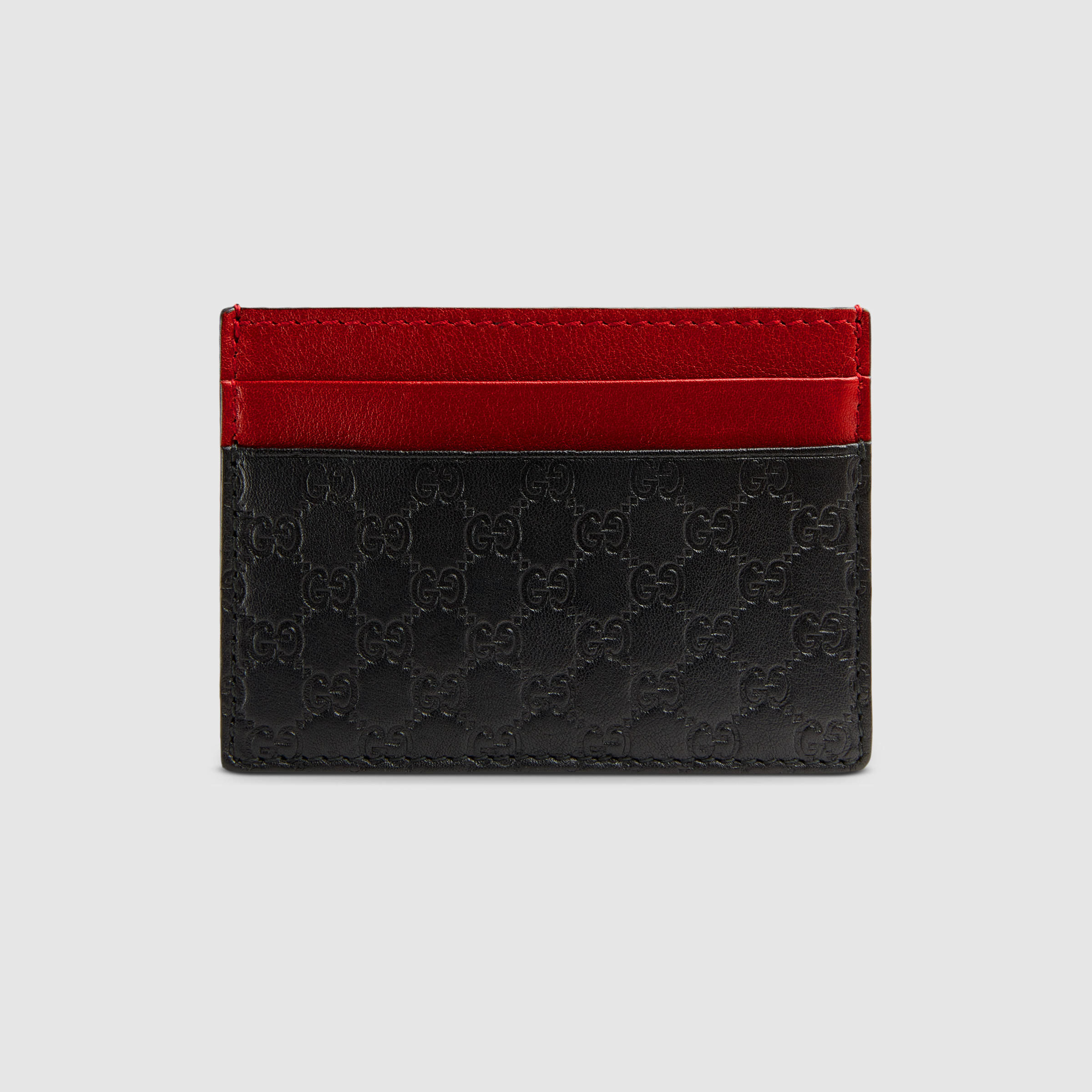 fee136ec8dc2 Gucci Microguccissima Card Case in Red for Men - Lyst