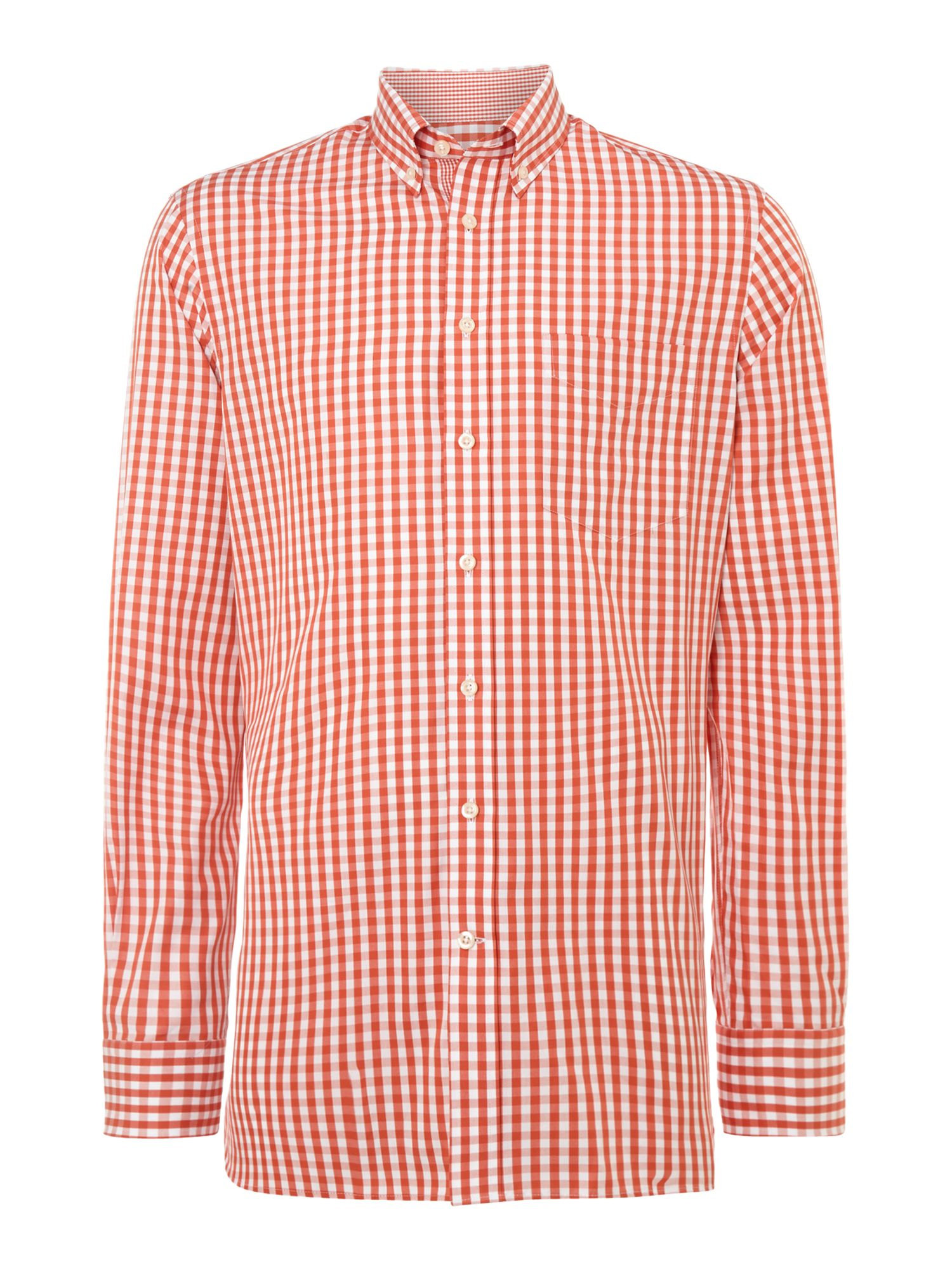 Hackett Long Sleeve Check Shirt In White For Men Pink Lyst
