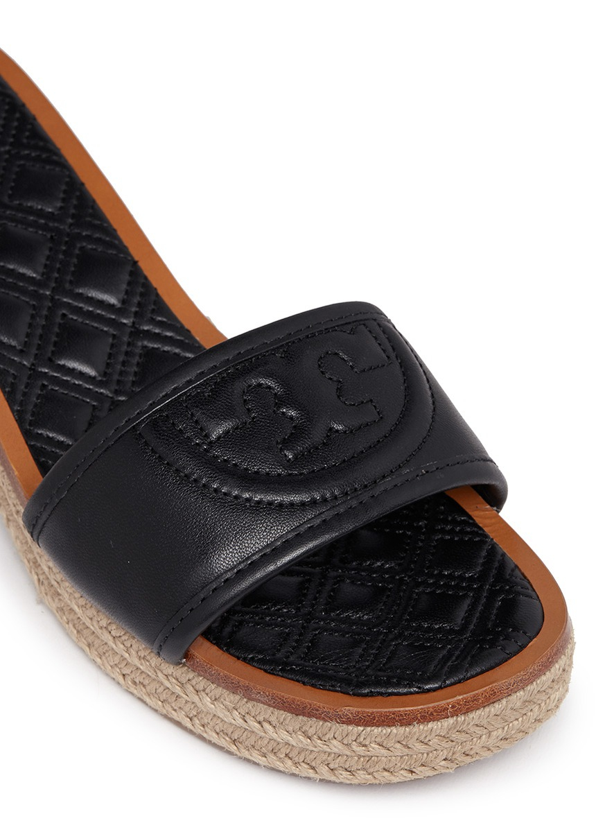 Lyst Tory Burch Fleming Leather Espadrille Sandals In