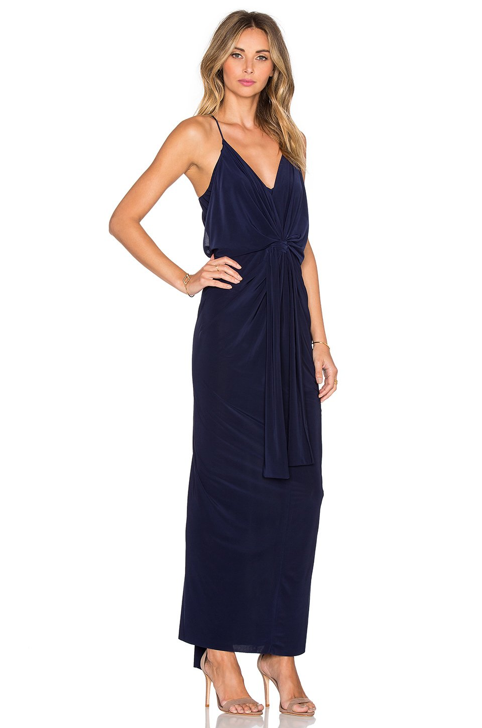T-bags Twist Front Maxi Dress in Blue  Lyst
