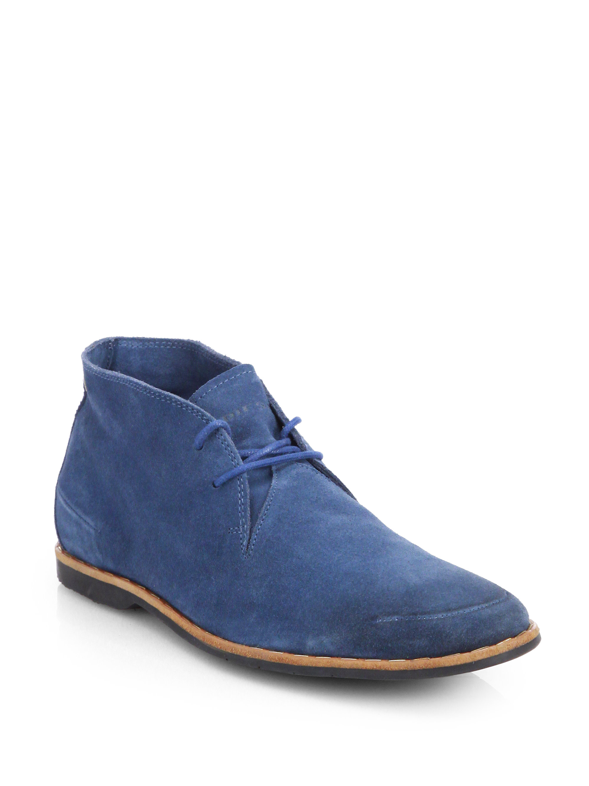 Lyst Diesel Lawless Suede Chukka Boots In Blue For Men