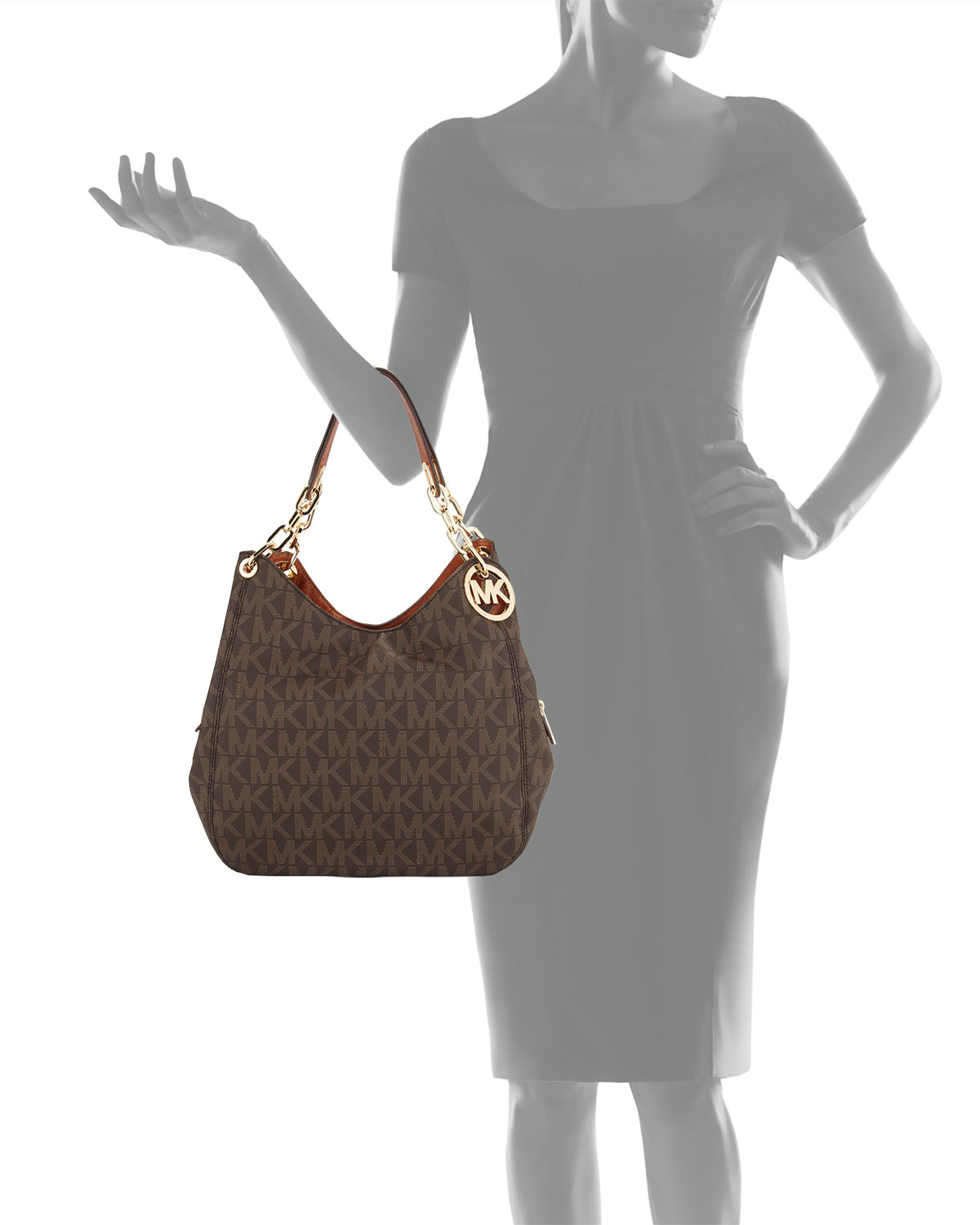 316b04eb9078 ... clearance lyst michael michael kors fulton large tote bag in brown  907d6 a3952