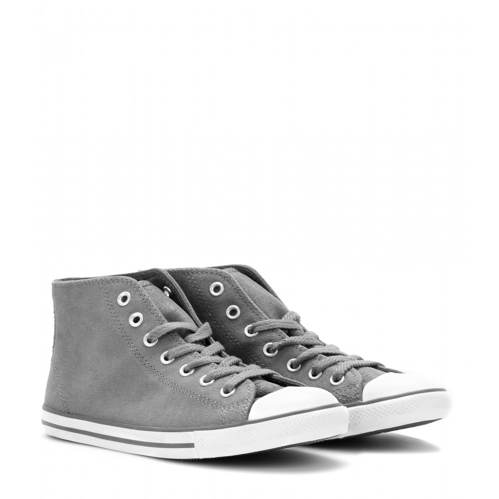 04e014939eef Converse Chuck Taylor Dainty Leather Midsneakers in Gray - Lyst