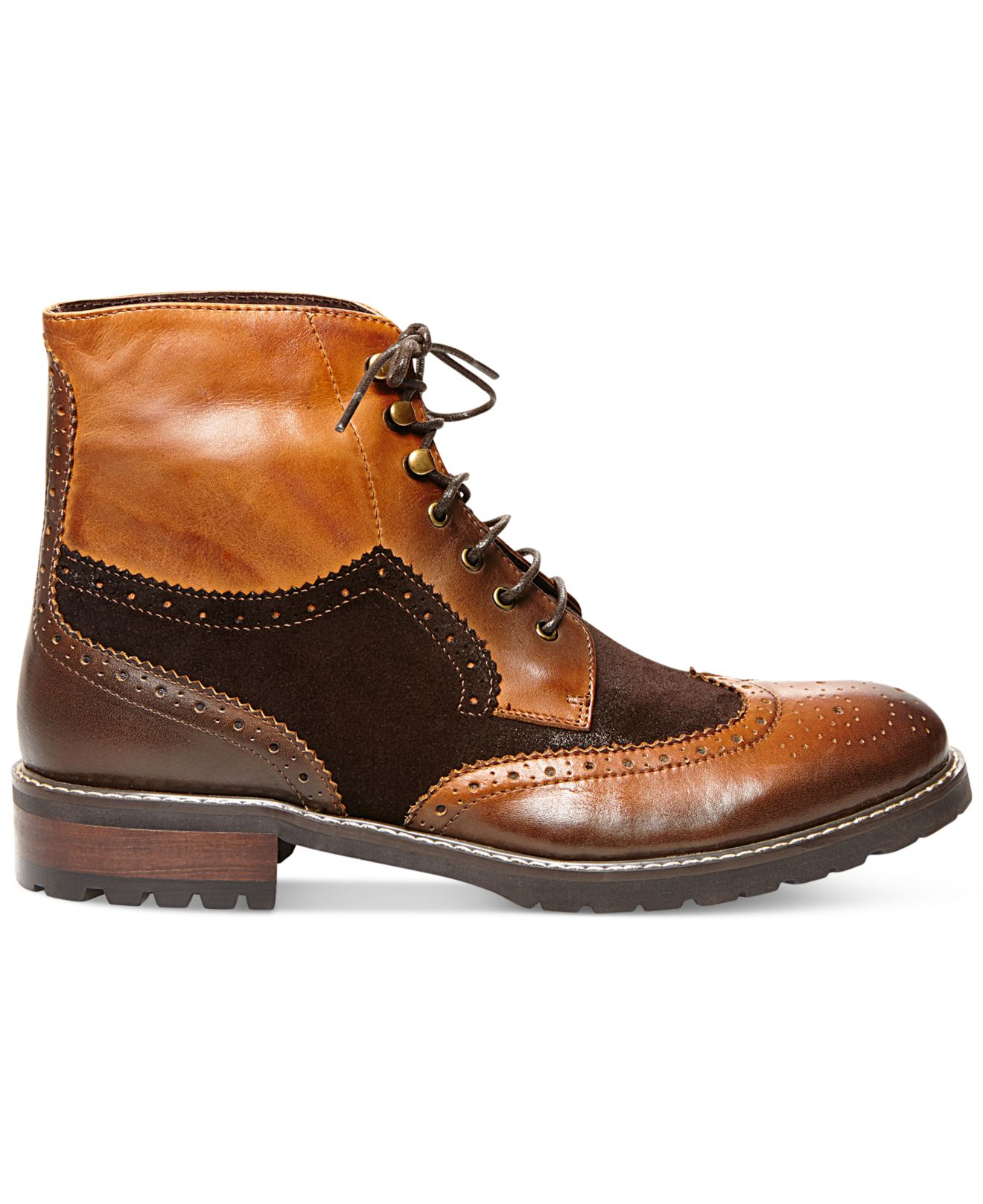 steve madden occupie boots in brown for brown