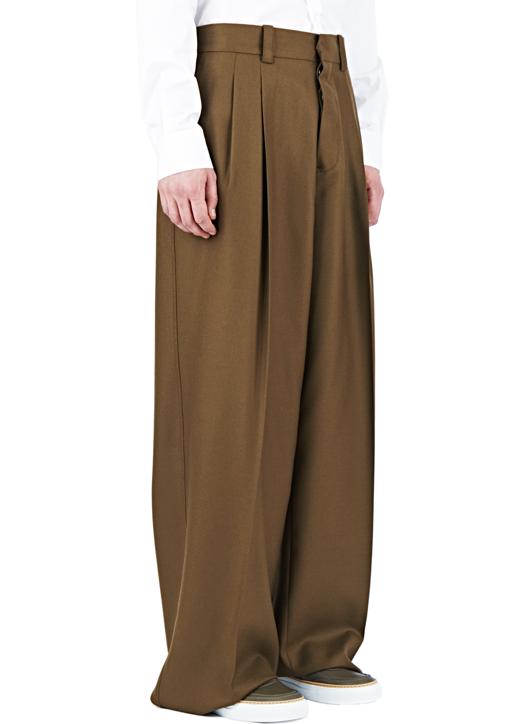 Lyst Marni Oversized Wide Leg Pants In Brown For Men