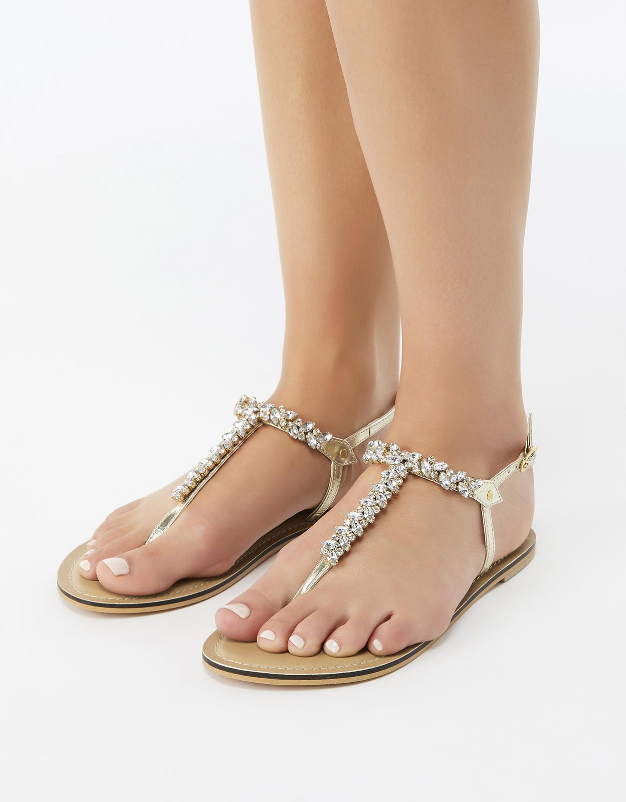 b06e8a96c65f15 Accessorize Belle Crystal Sandals - Lyst
