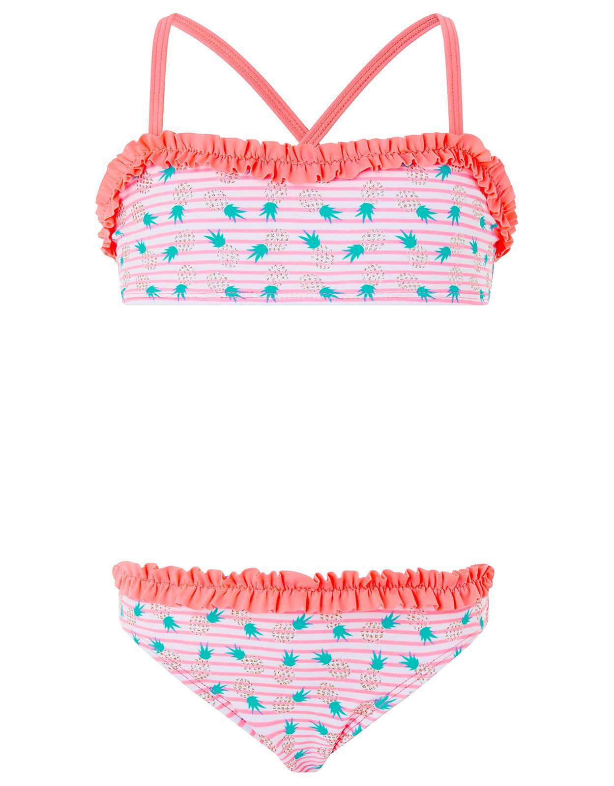 1852afd8234 Accessorize Paradise Pineapple Ruffle Bikini in Pink - Lyst