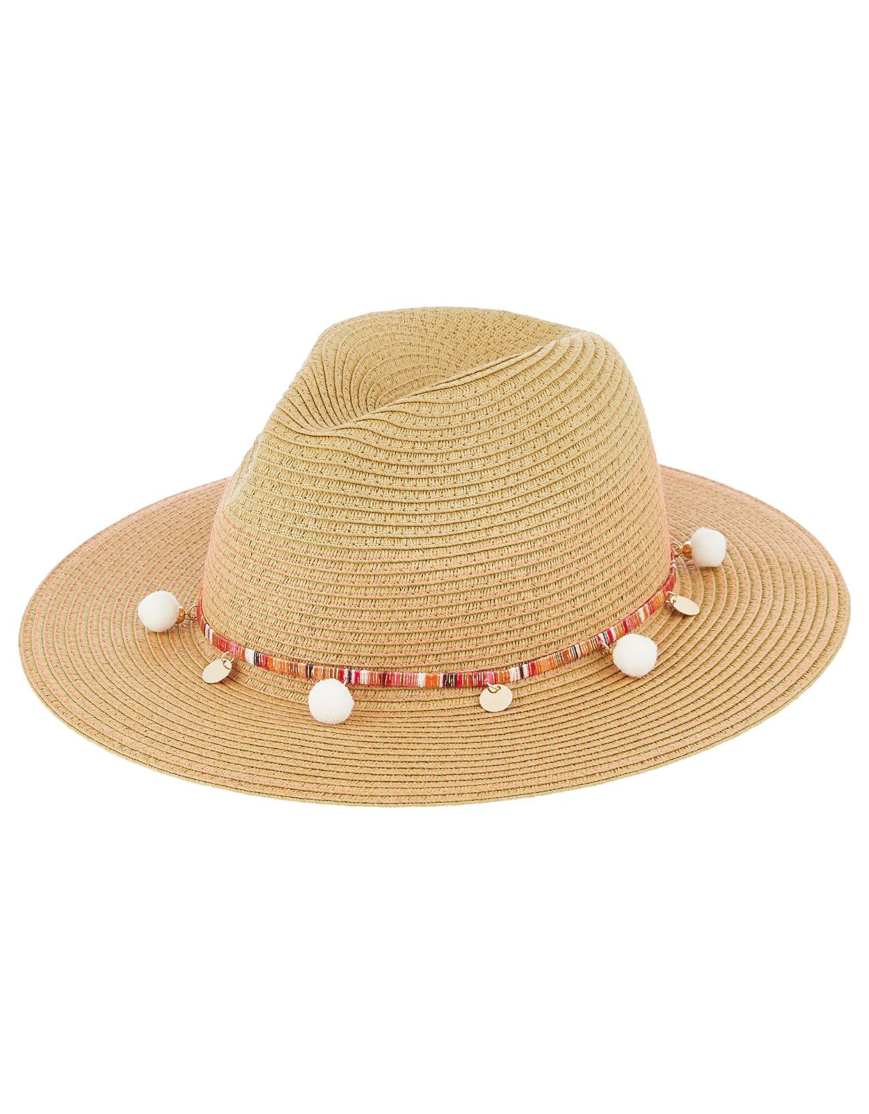 7da46940524f2 Accessorize Neon Stitch Braid Fedora Hat in Natural - Lyst