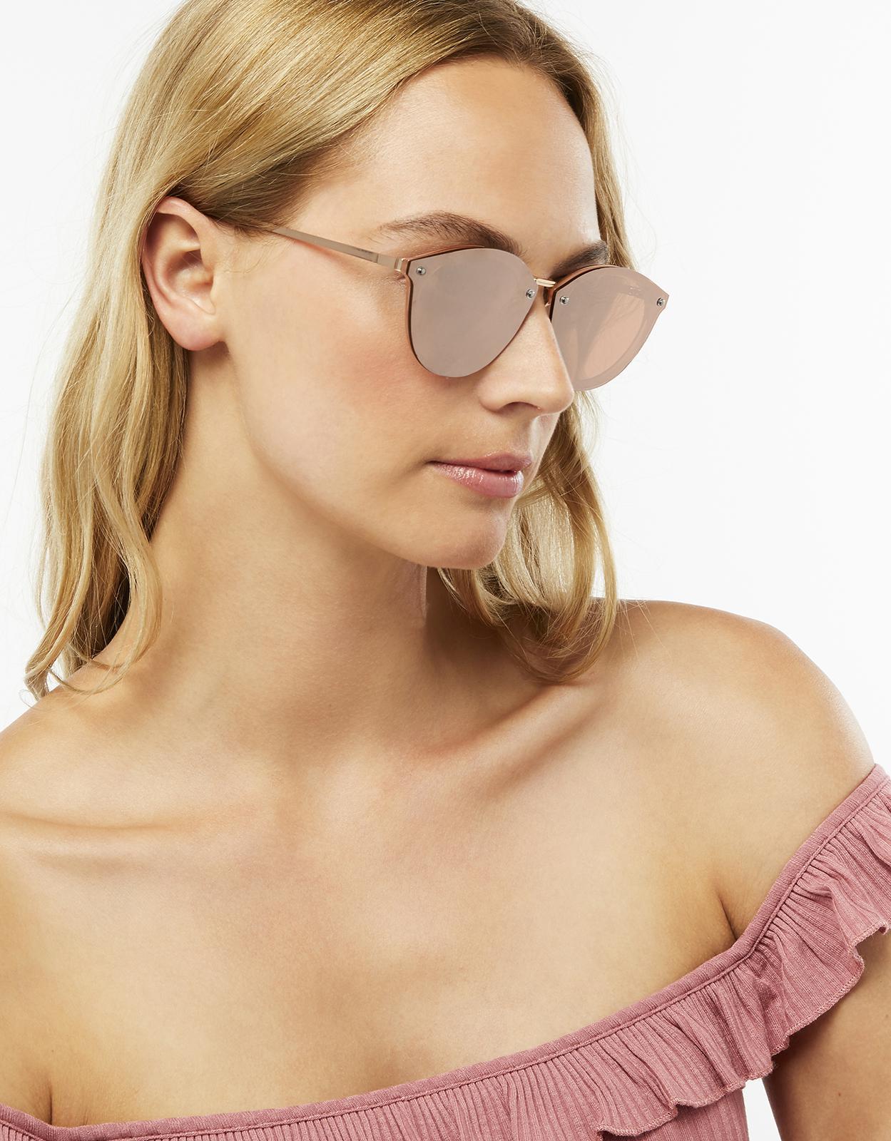 8100f33219e3aa Accessorize Rowan Rose Gold Layered Preppy Sunglasses in Metallic - Lyst