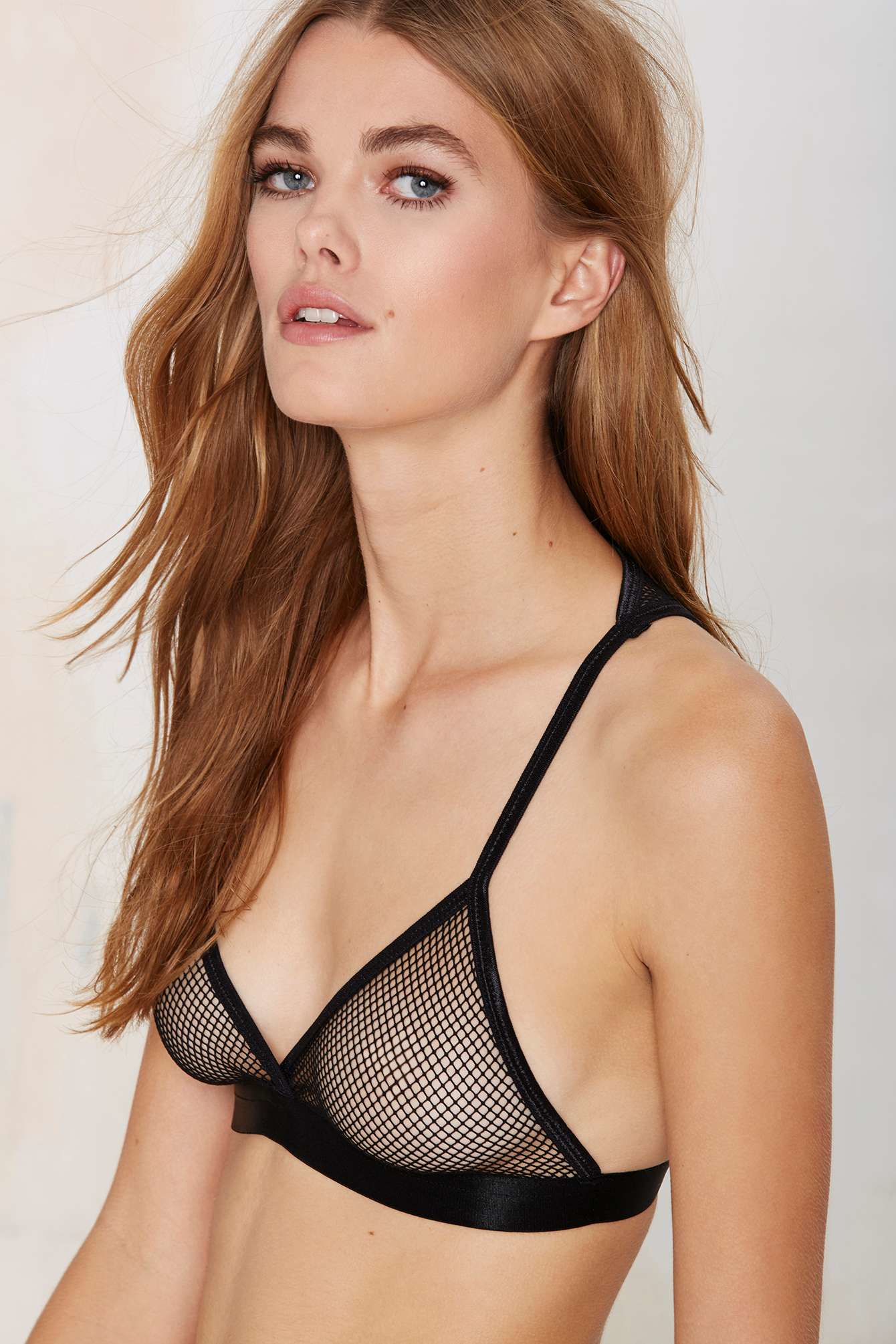 5c353c84bc7 Lyst - Nasty Gal Net Your Girl Bralette in Black
