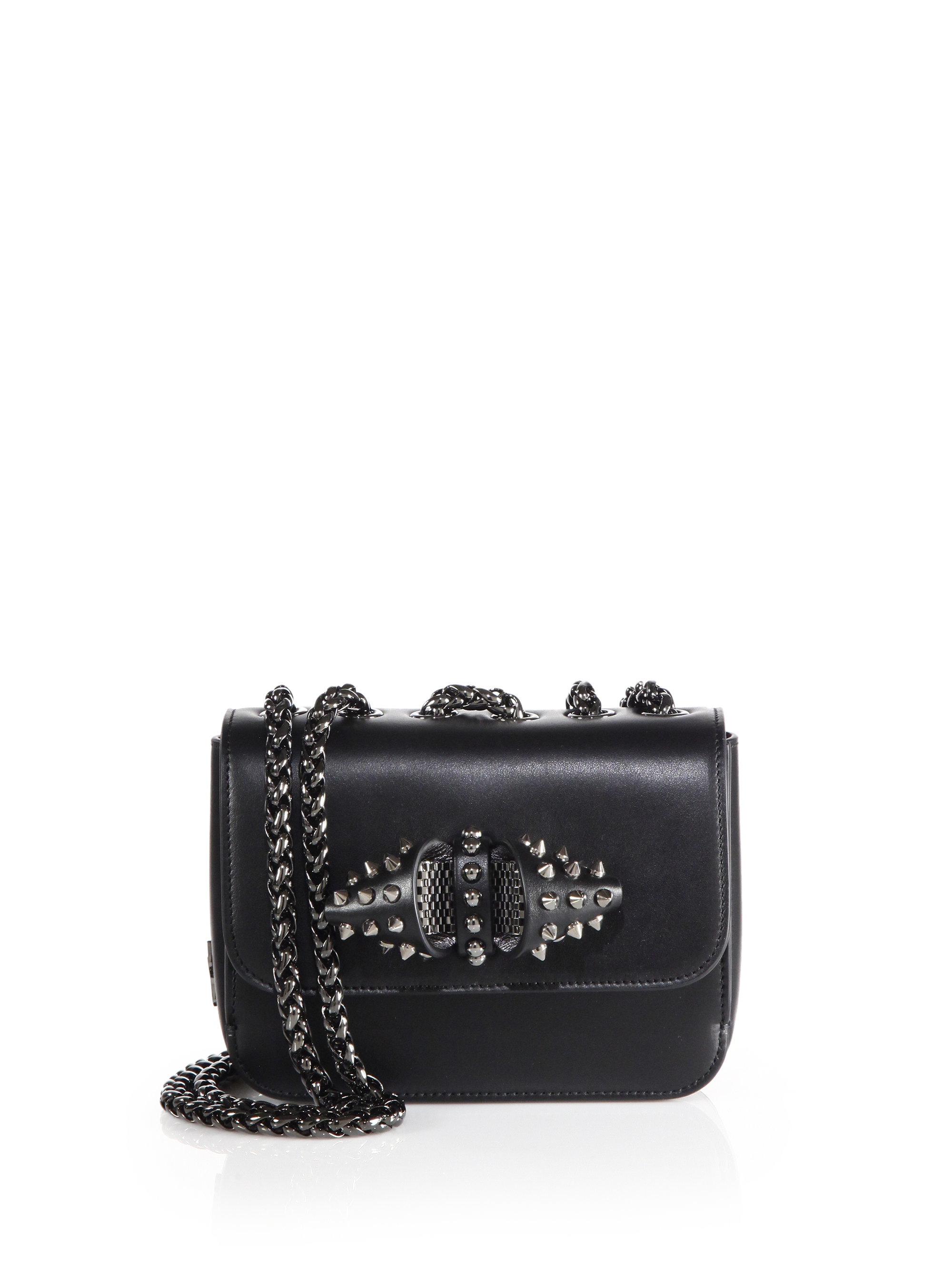 Christian louboutin Sweet Charity Baby Studded Leather Crossbody ...