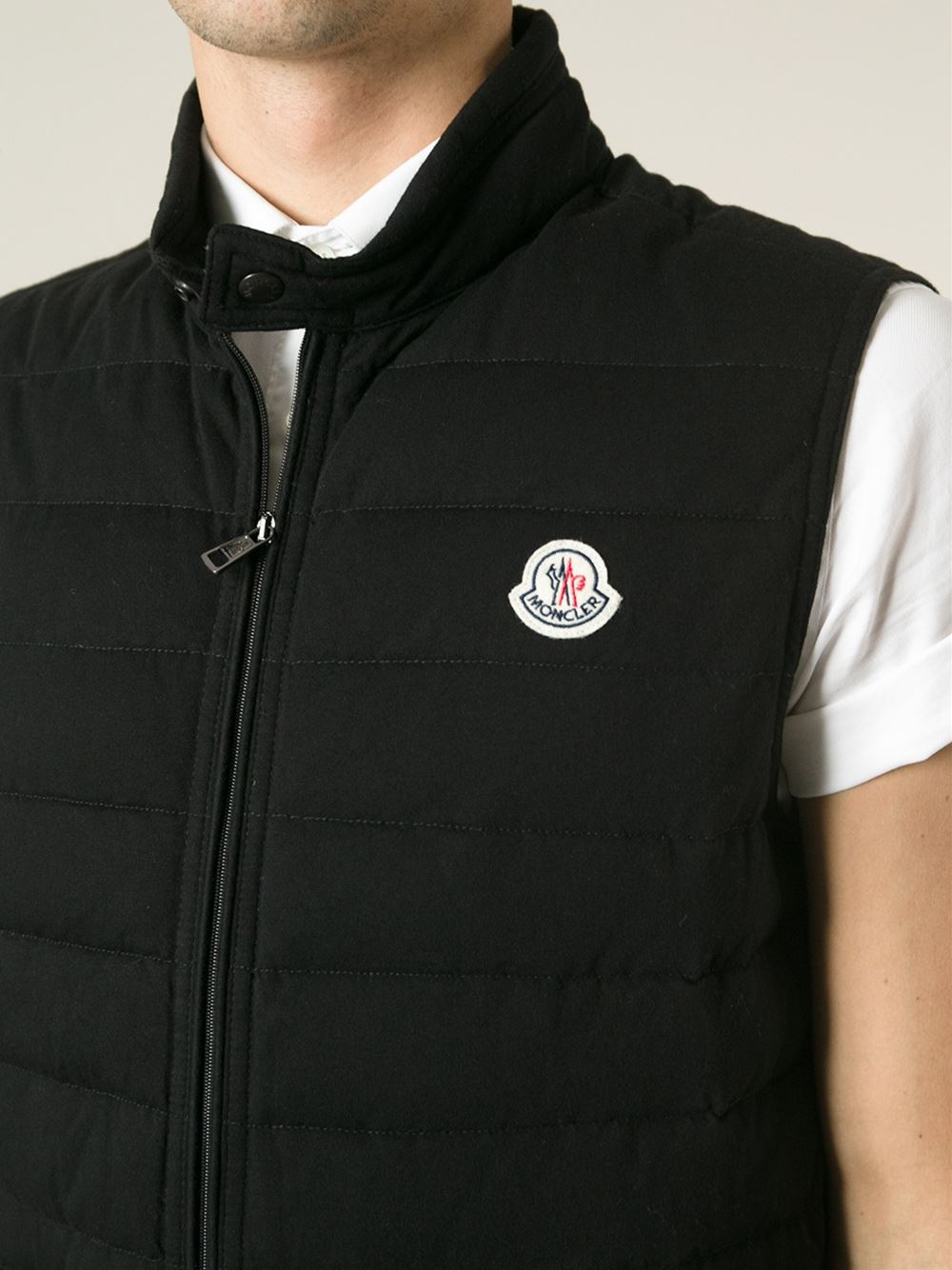 Moncler Gui Padded Gilet In Black For Men Lyst