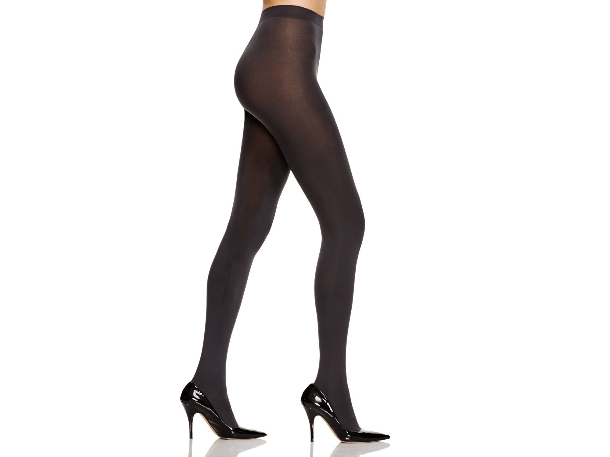 1413667bbcfab Hue Tights - Absolute Opaque #u14526 in Black - Lyst