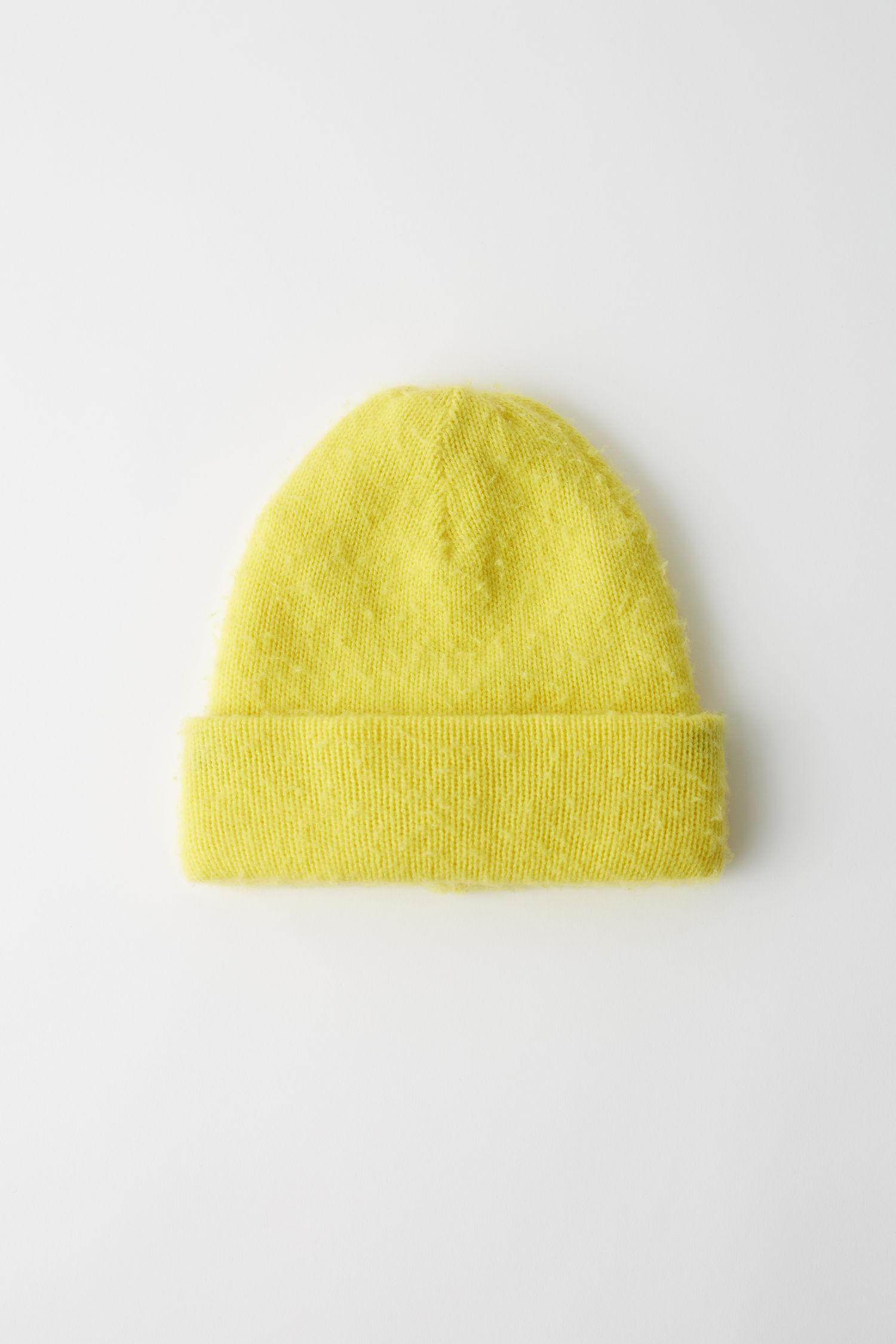 9a06b51756e Acne Fn-ux-hats000002 Yellow Pilled Beanie in Yellow - Lyst