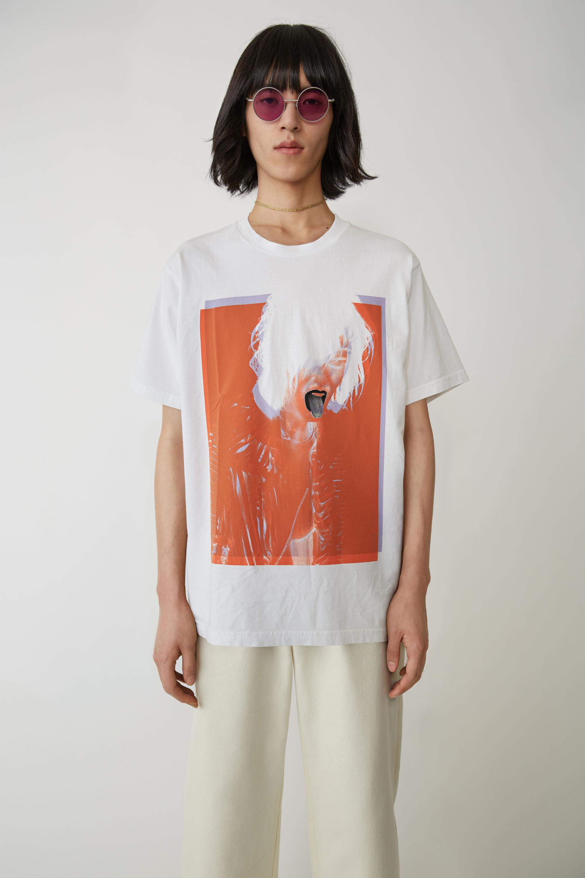 a2df228c79 Acne Ss-ux-tshi000002 Optic White Special Edition T-shirt in White ...