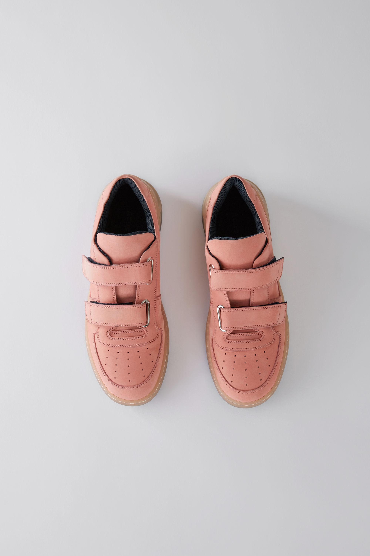 Lyst Acne Velcro Sneakers Dusty Pink In Flash  Olivia View Fullscreen