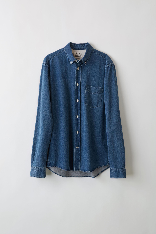 16e91b5f15 Acne - Blue Isherwood Den Rinsed Denim Classic Fit Shirt for Men - Lyst.  View fullscreen