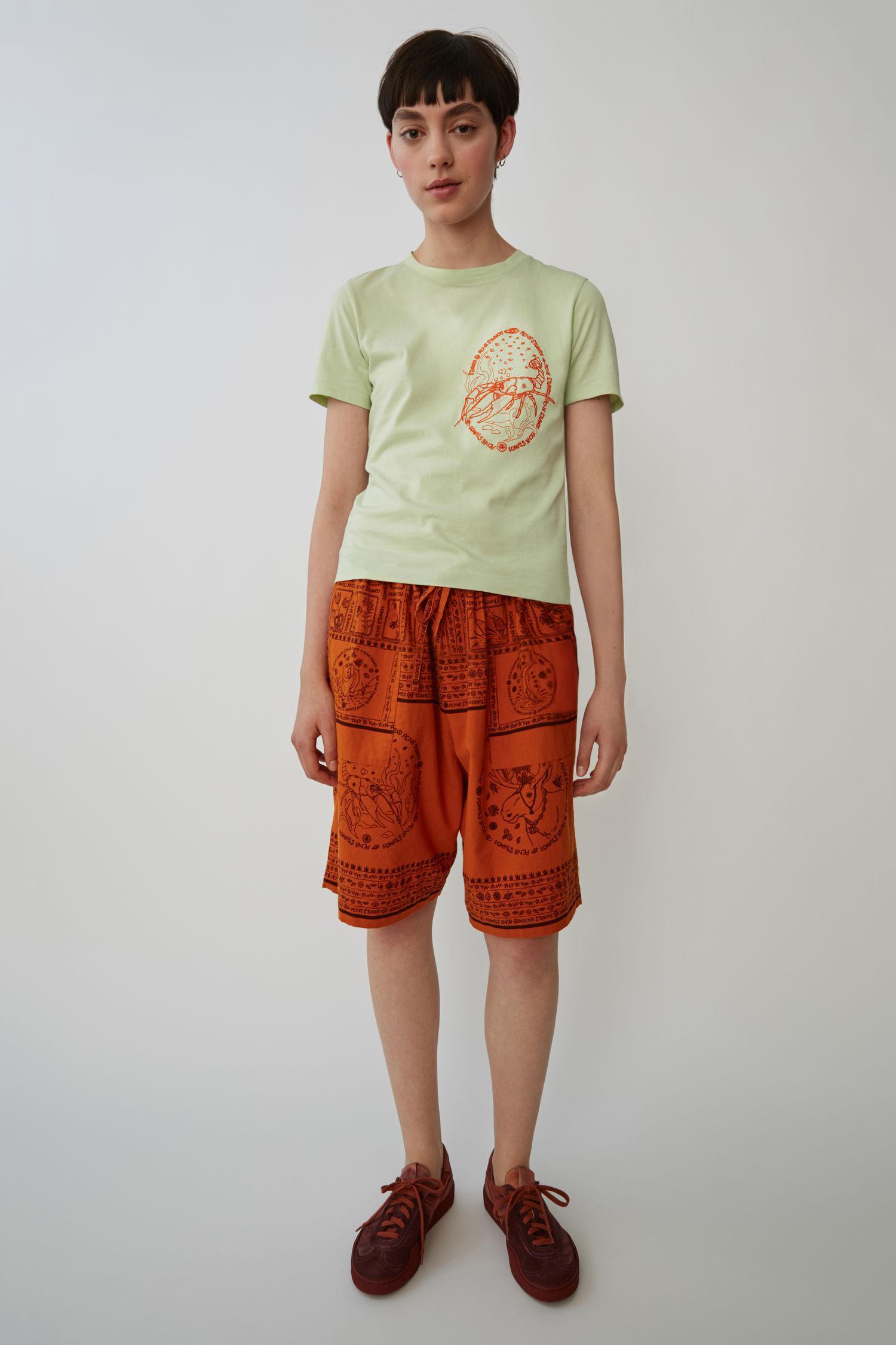 fbe9de63 Acne Studios Yoga T-shirt mint Green in Green for Men - Lyst