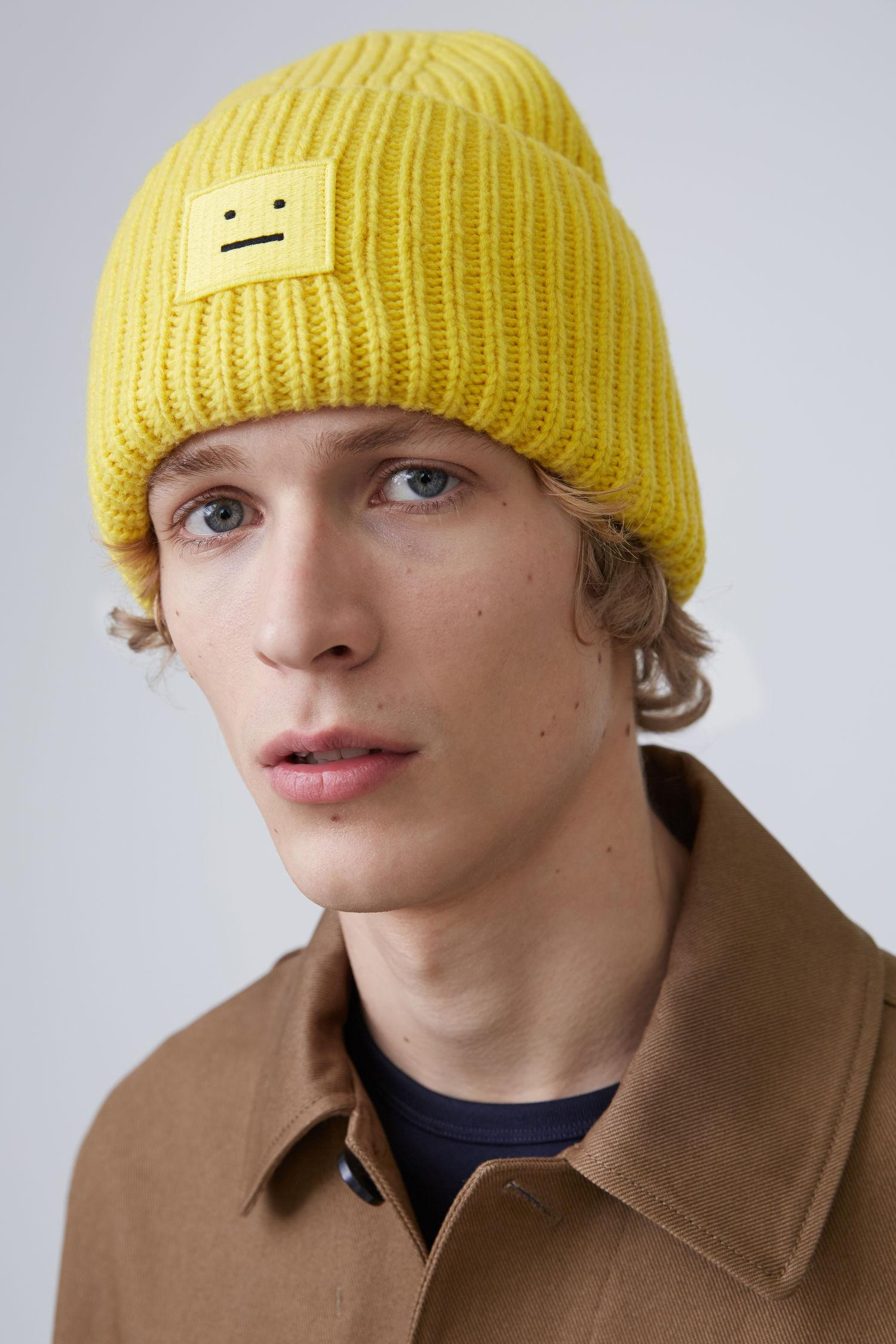 Lyst - Acne Studios Ribbed Beanie Hat canary Yellow in Yellow 899c89da00e