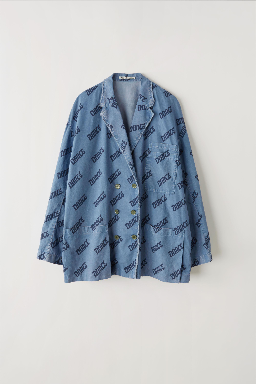 6eaee357 Acne Studios Fn-wn-suit000037 Blue/navy Printed Blazer in Blue - Lyst