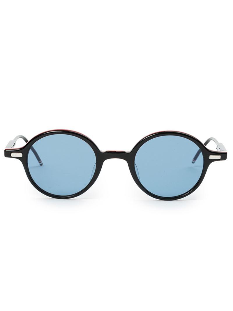 d25b09377d1 Lyst - Thom Browne Round Frame Glasses in Black for Men