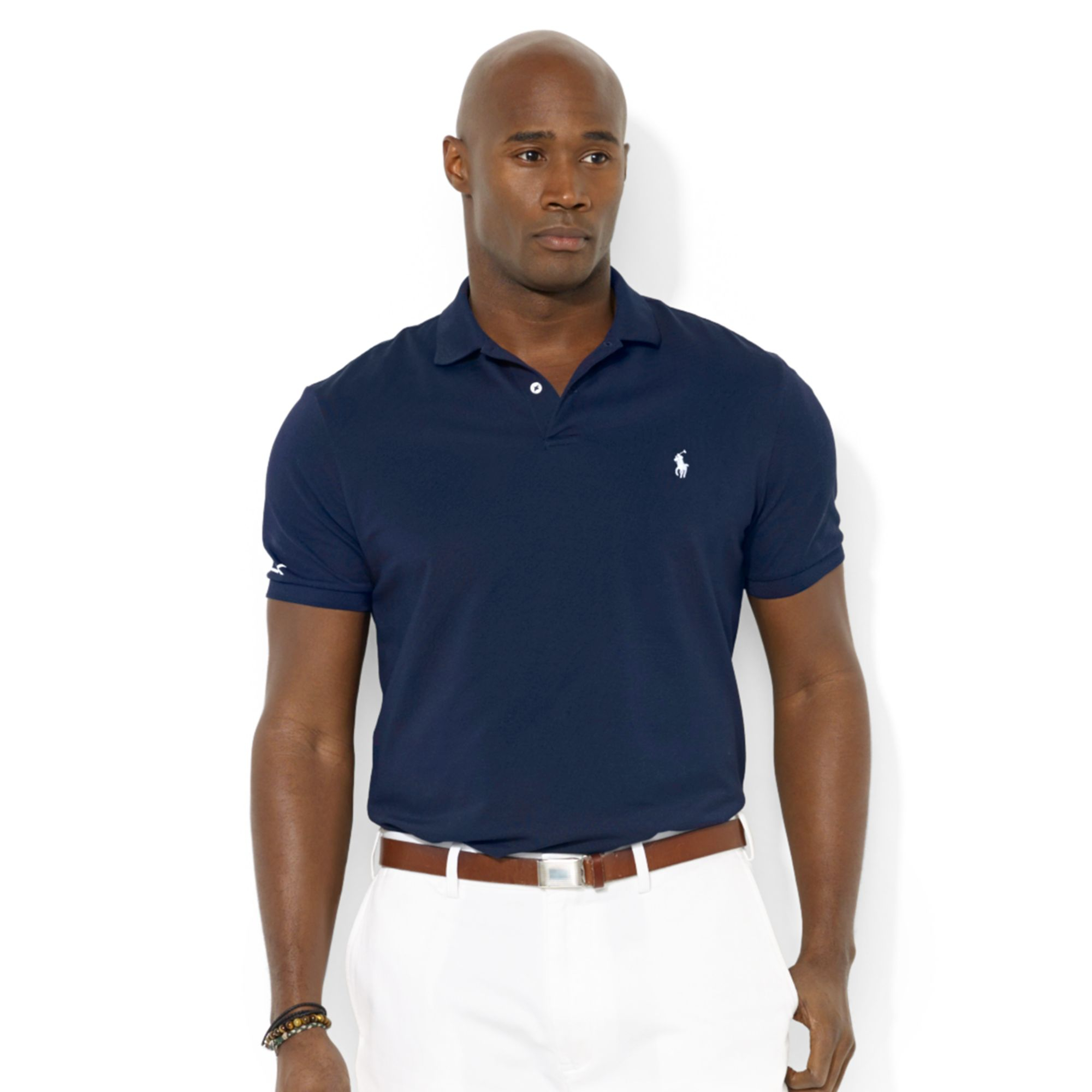 polo ralph lauren polo rlx big and tall performance polo shirt in blue for men french navy lyst. Black Bedroom Furniture Sets. Home Design Ideas