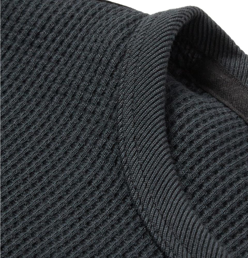 9ec9ab68 Lyst Rag Bone Waffle Knit Cotton T Shirt In Gray For Men