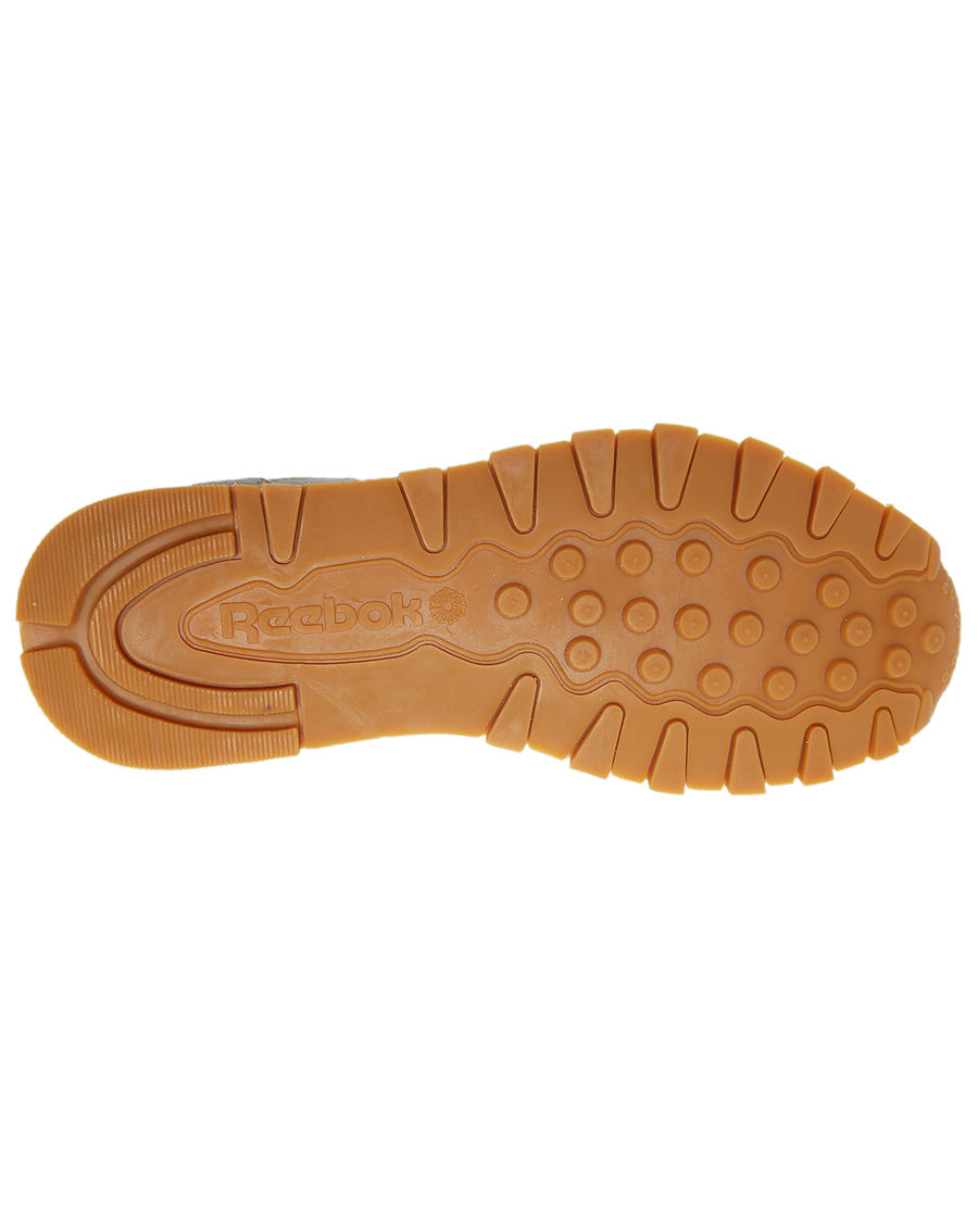 reebok kendrick lamar classic leather sneakers in natural