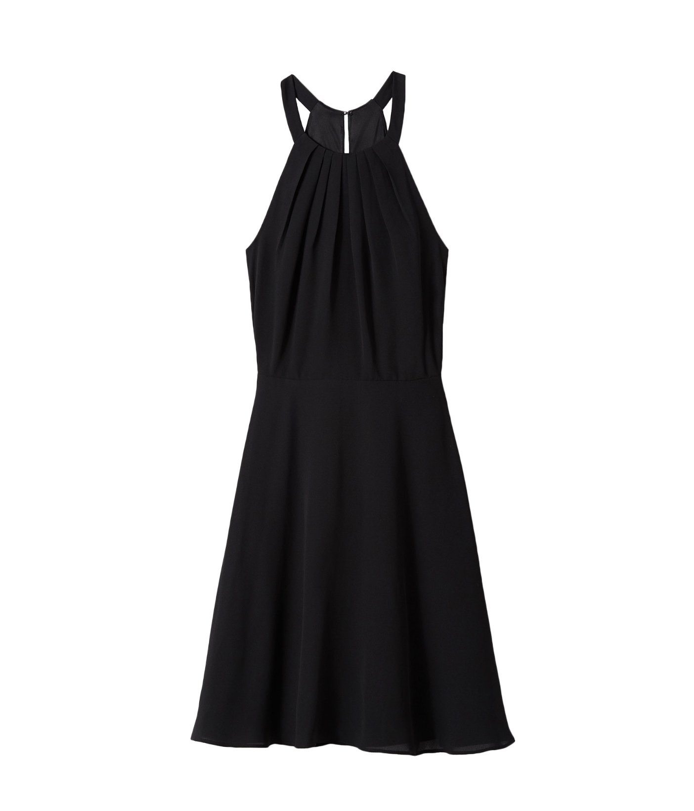 Lyst Express Fit And Flare Halter Dress In Black