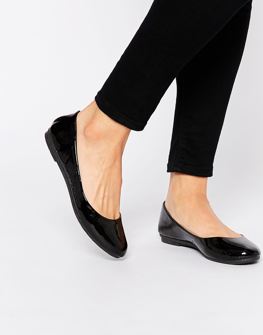 Flat Court Shoes Black