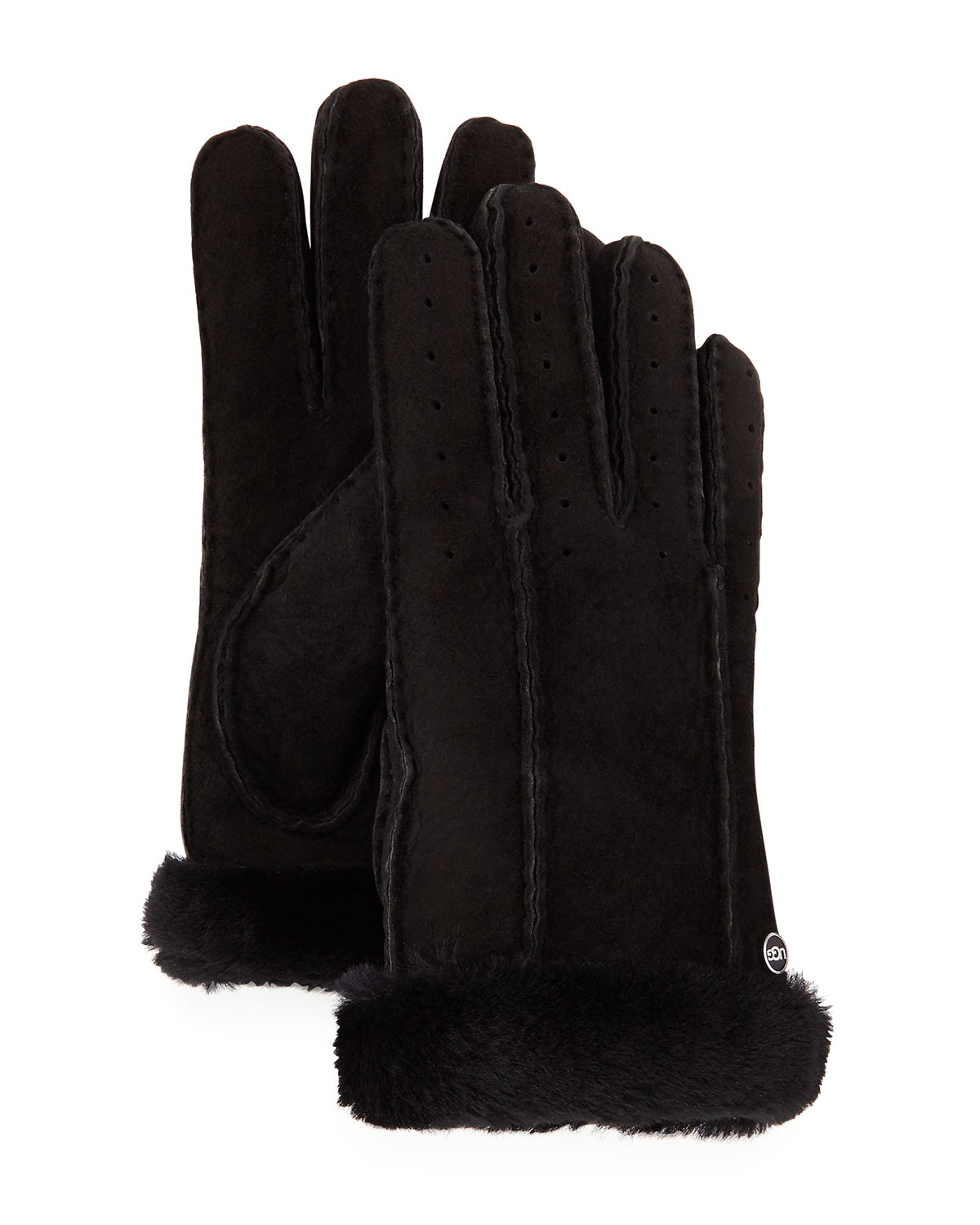 Womens leather gloves australia -  Ugg Clic Leather Smart Glove In Black For Men Save 9 Lyst