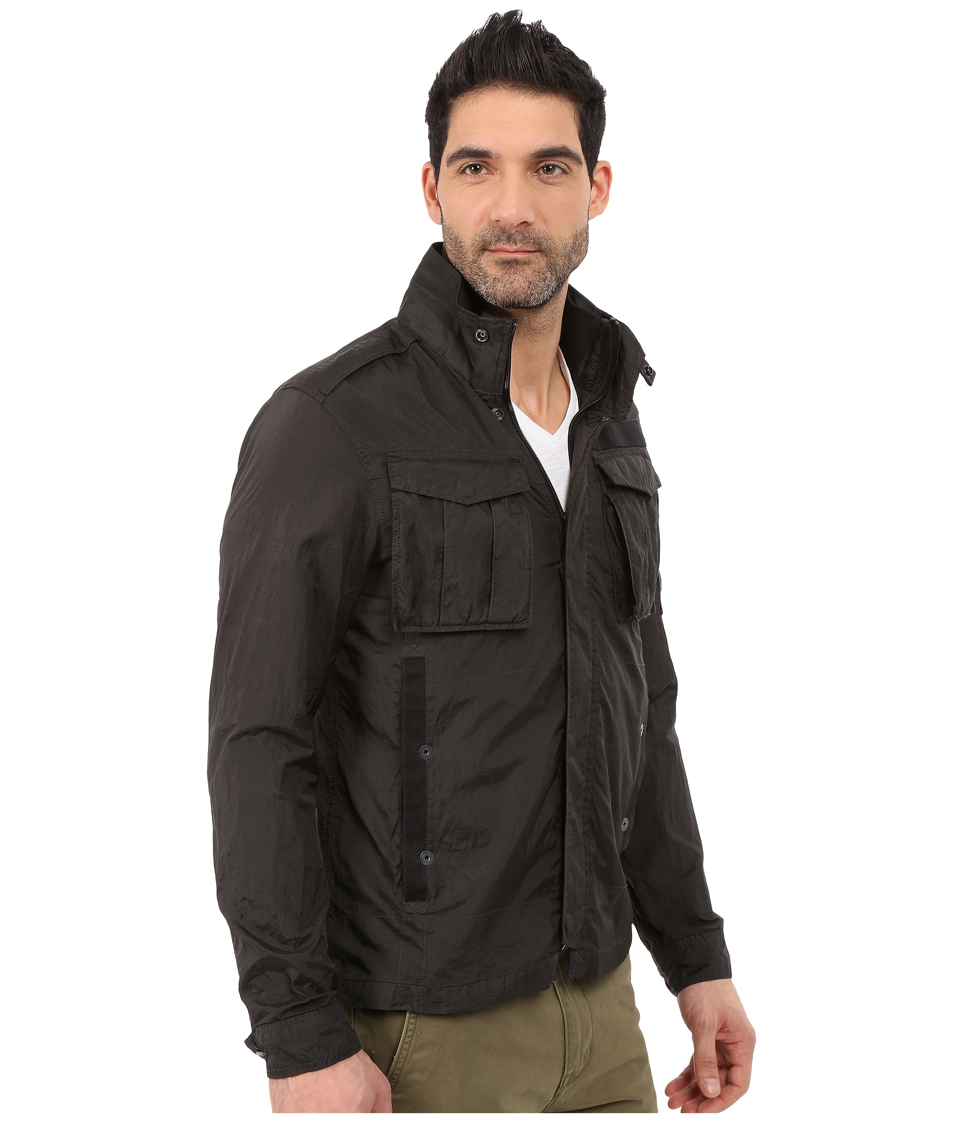 g star raw rovic overshirt in black for men lyst. Black Bedroom Furniture Sets. Home Design Ideas