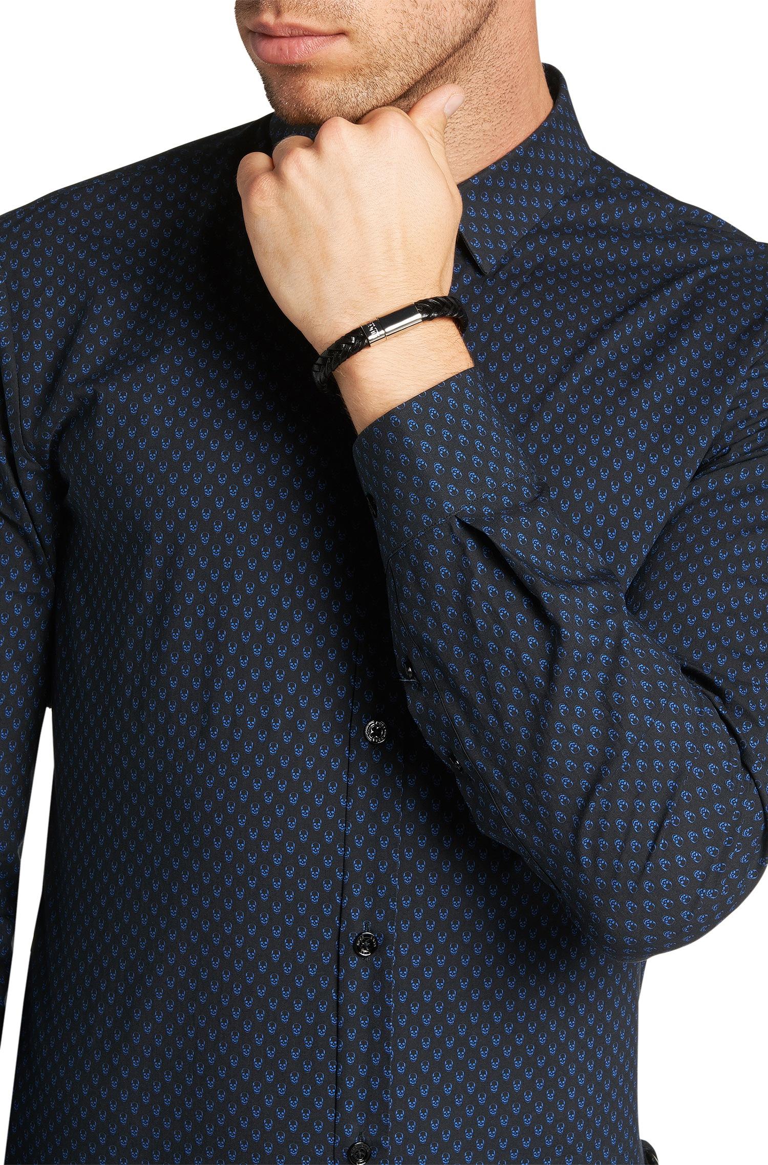 Venture mens black leather bracelet men bracelets links of london - Gallery