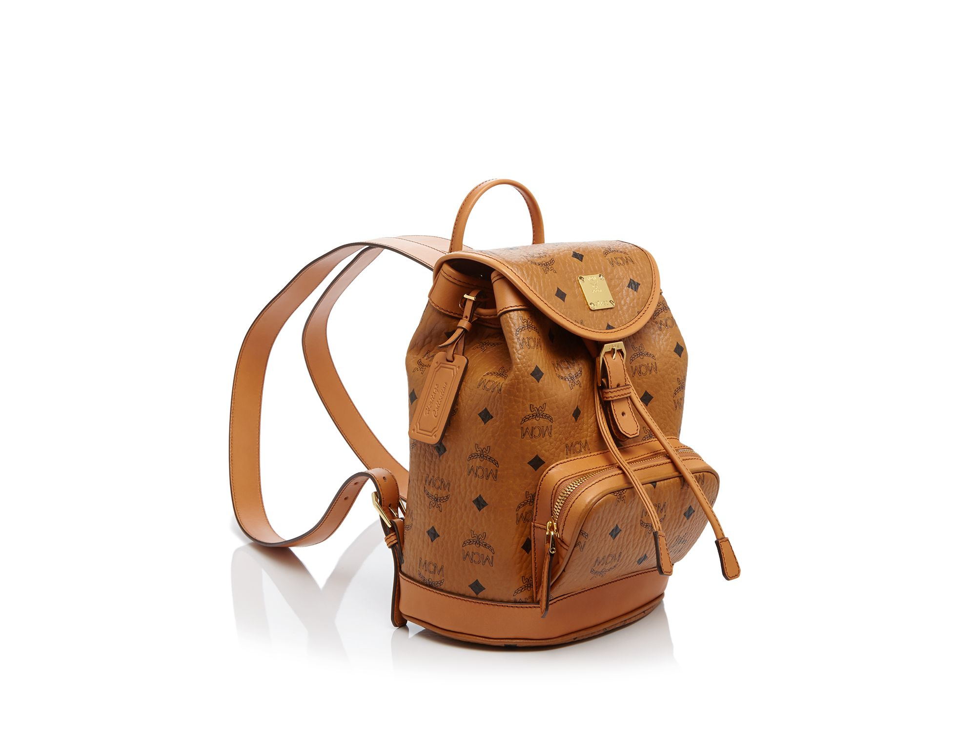 Lyst Mcm Heritage Mini Backpack In Brown