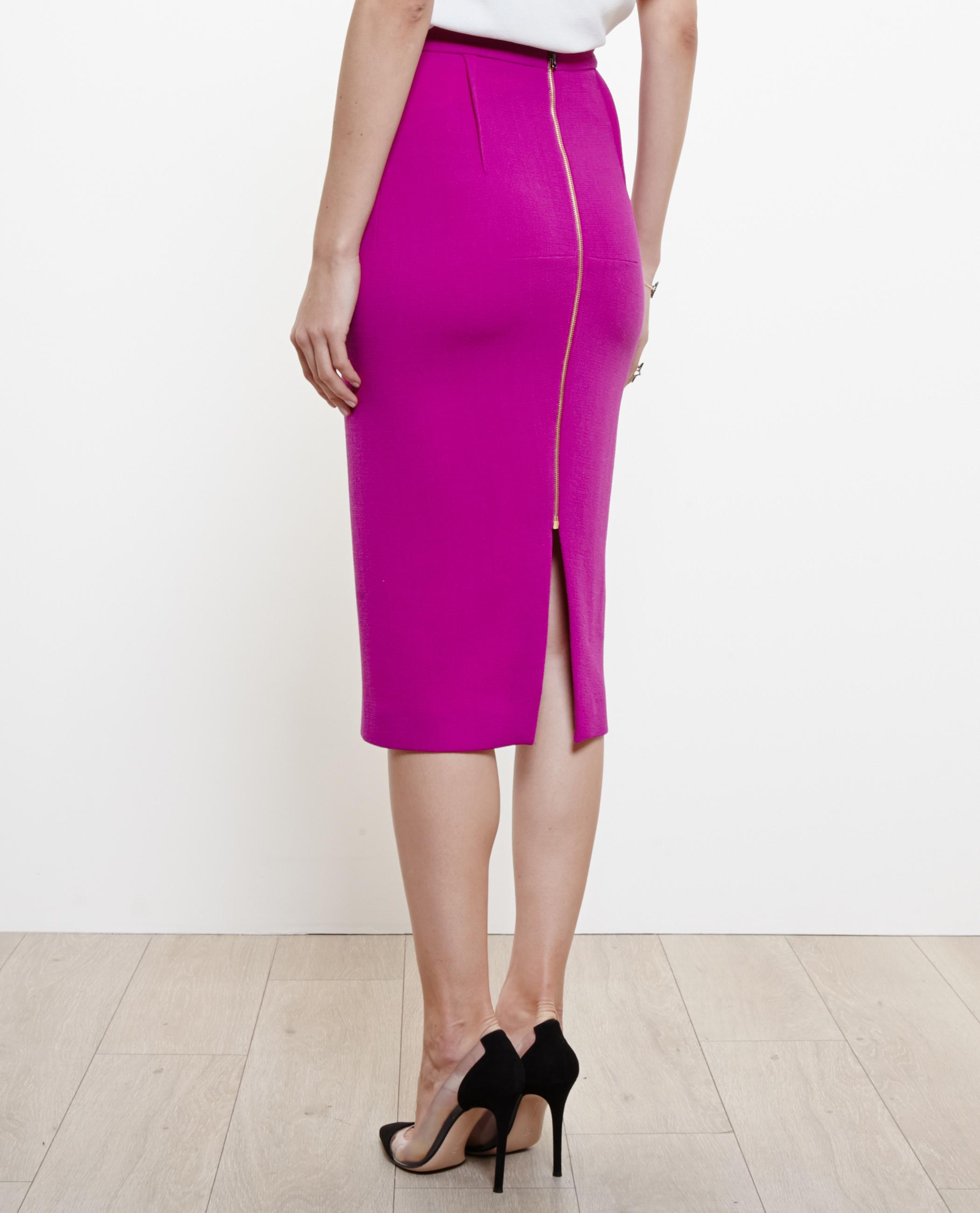 7ad8b7f59 Roland Mouret Arreton Wool Crepe Pencil Skirt in Purple - Lyst