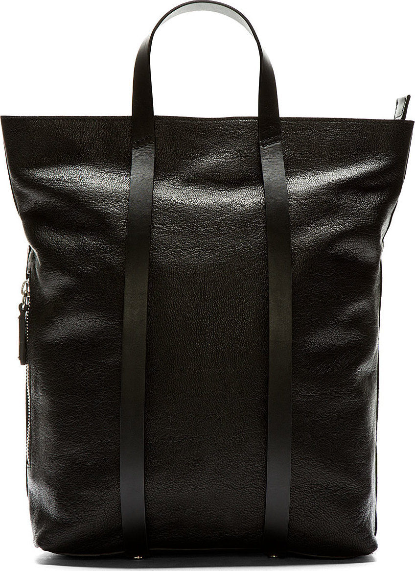 Lyst - CoSTUME NATIONAL Black Leather Tote Backpack in Black for Men