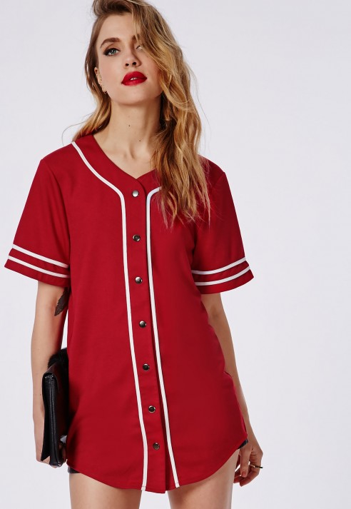 missguided bad gal button through boyfriend baseball