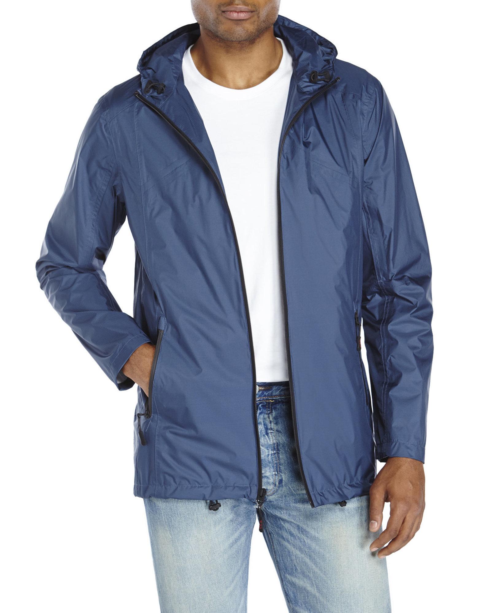 Tumi Packable Nylon Rain Jacket in Blue | Lyst