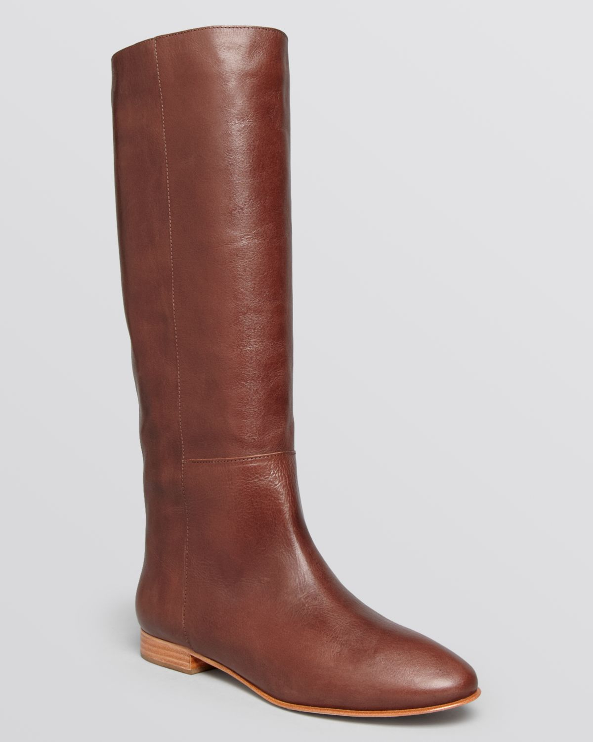 Loeffler randall Tall Flat Riding Boots - Marit in Brown | Lyst