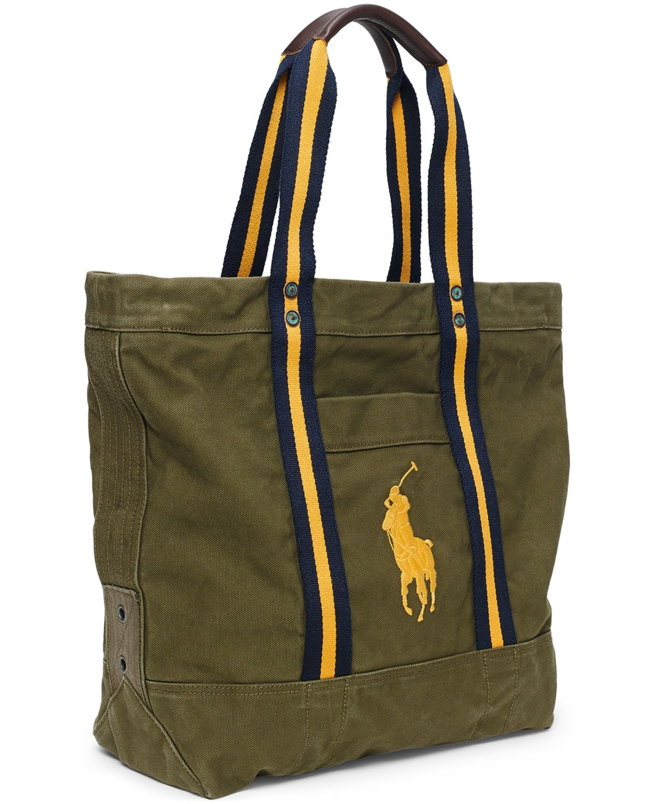 Polo ralph lauren Big Pony Canvas Tote in Green for Men | Lyst