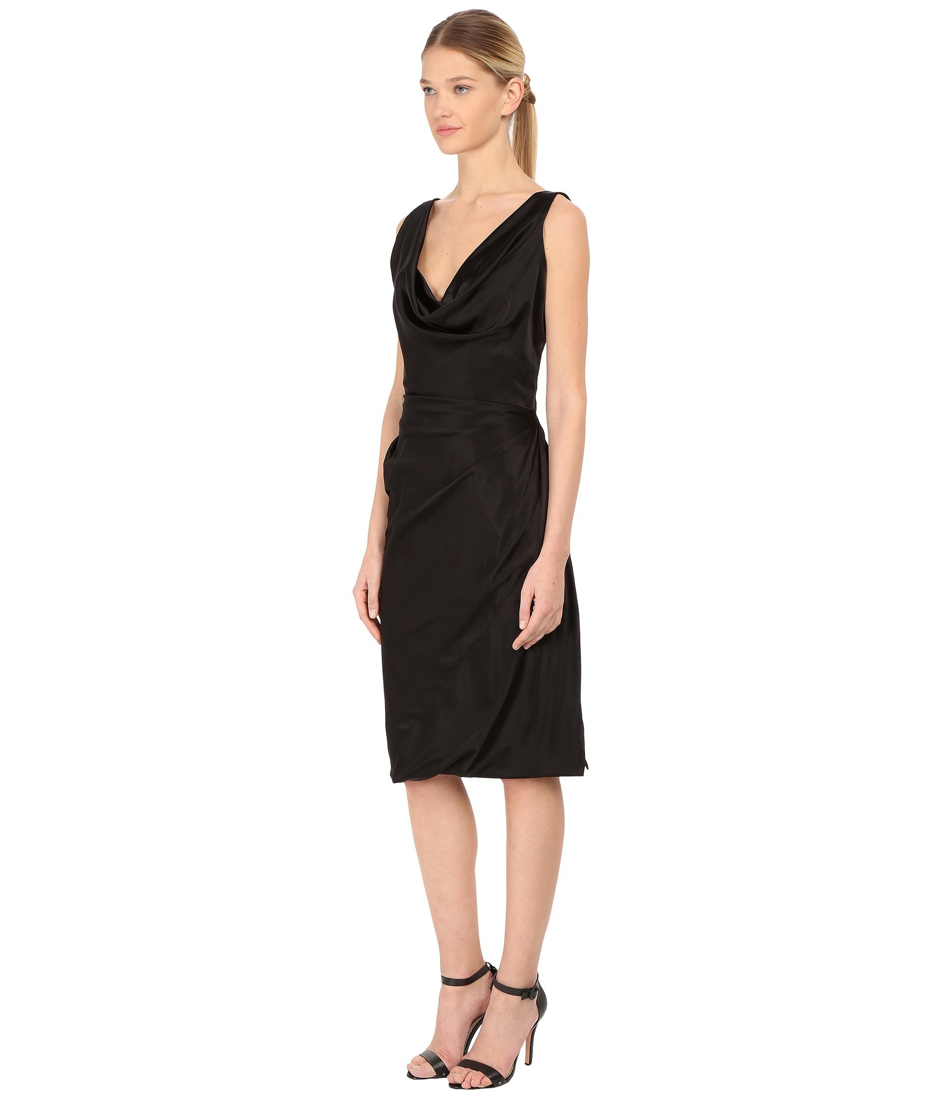 9cca5732f70 Vivienne Westwood Red Label Stretch Satin Short Amber Dress in Black ...