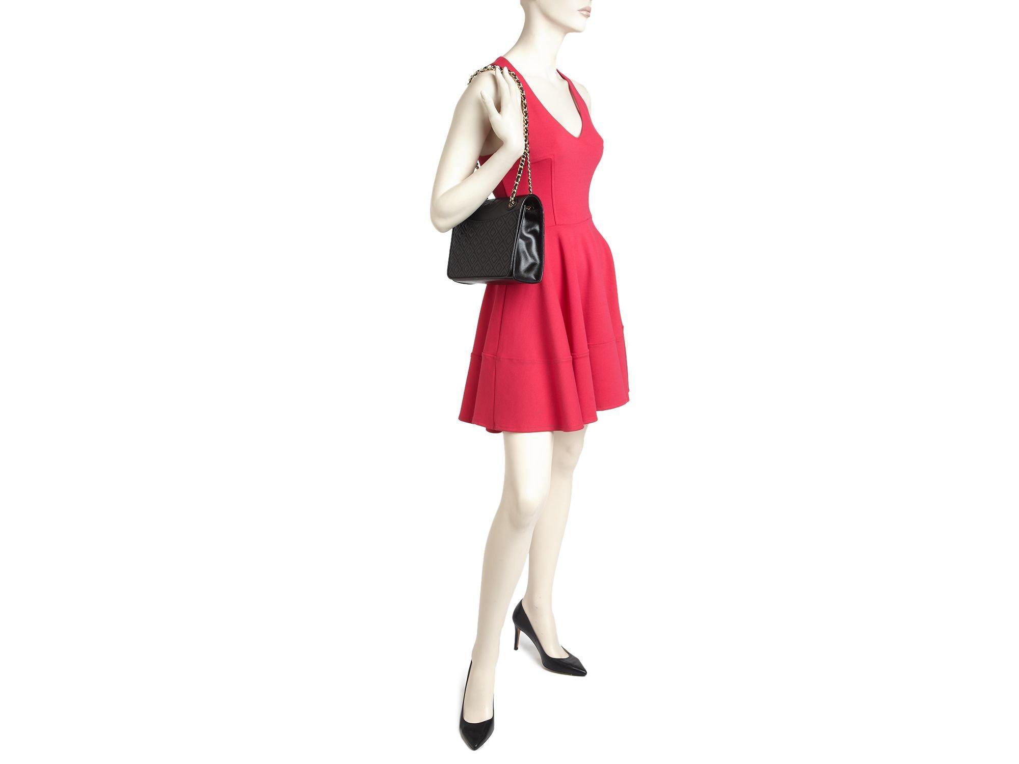 9ff4fa5b1ba5 Lyst - Tory Burch Shoulder Bag - Fleming Patent Medium in Black