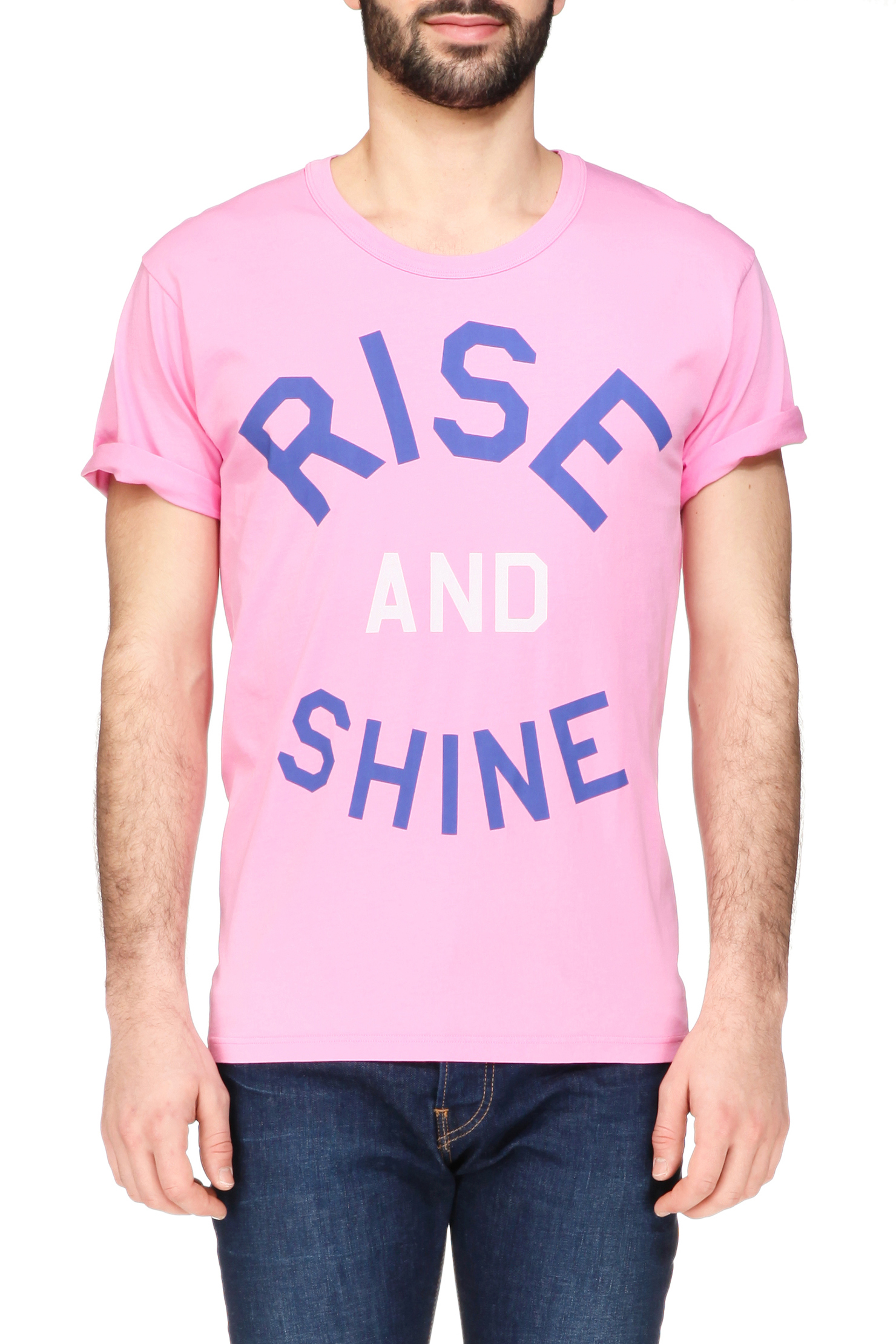 pepe jeans short sleeve t shirt in pink for men lyst. Black Bedroom Furniture Sets. Home Design Ideas