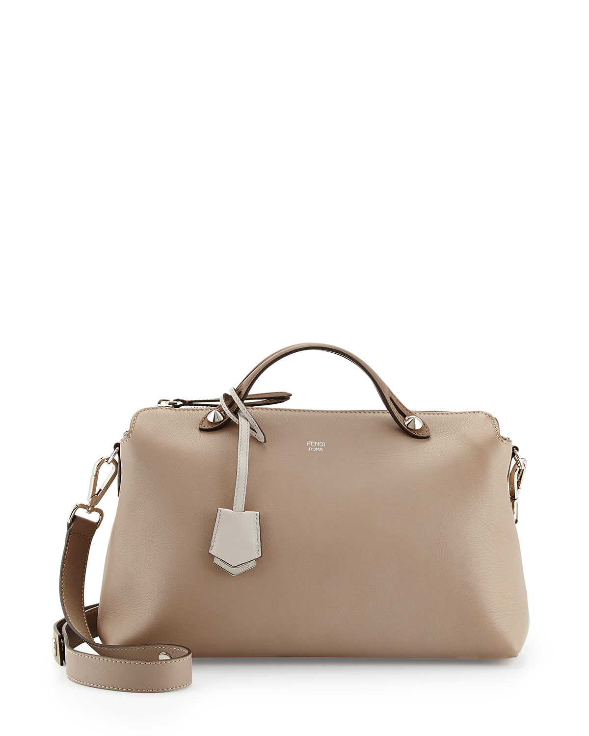 Fendi By The Way Bauletto Grande Satchel Bag in Natural